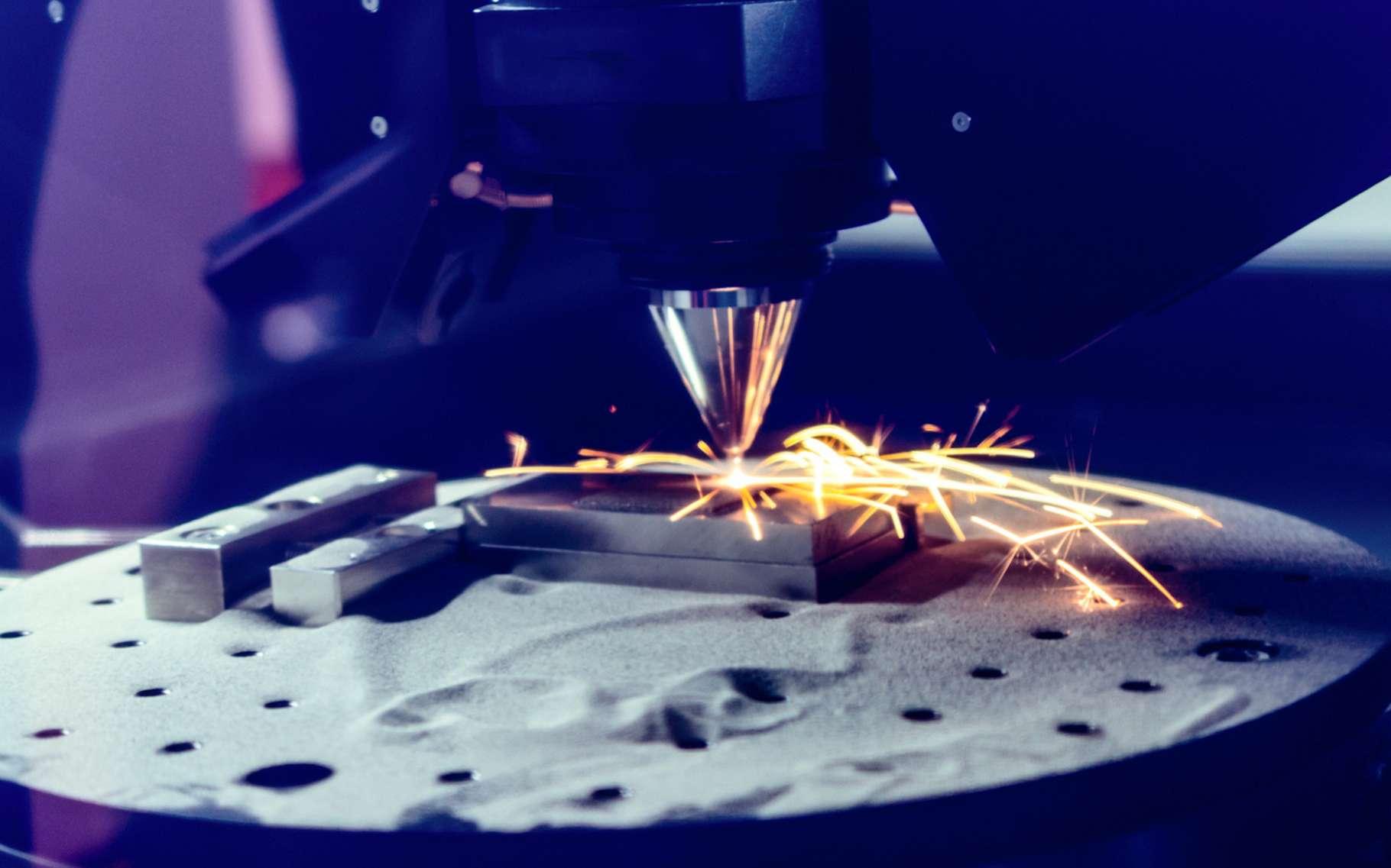 L'intégration de gaz de qualité dans le procédé de fabrication additive métallique est indispensable si l'on veut obtenir un résultat de qualité. © nordroden, Fotolia