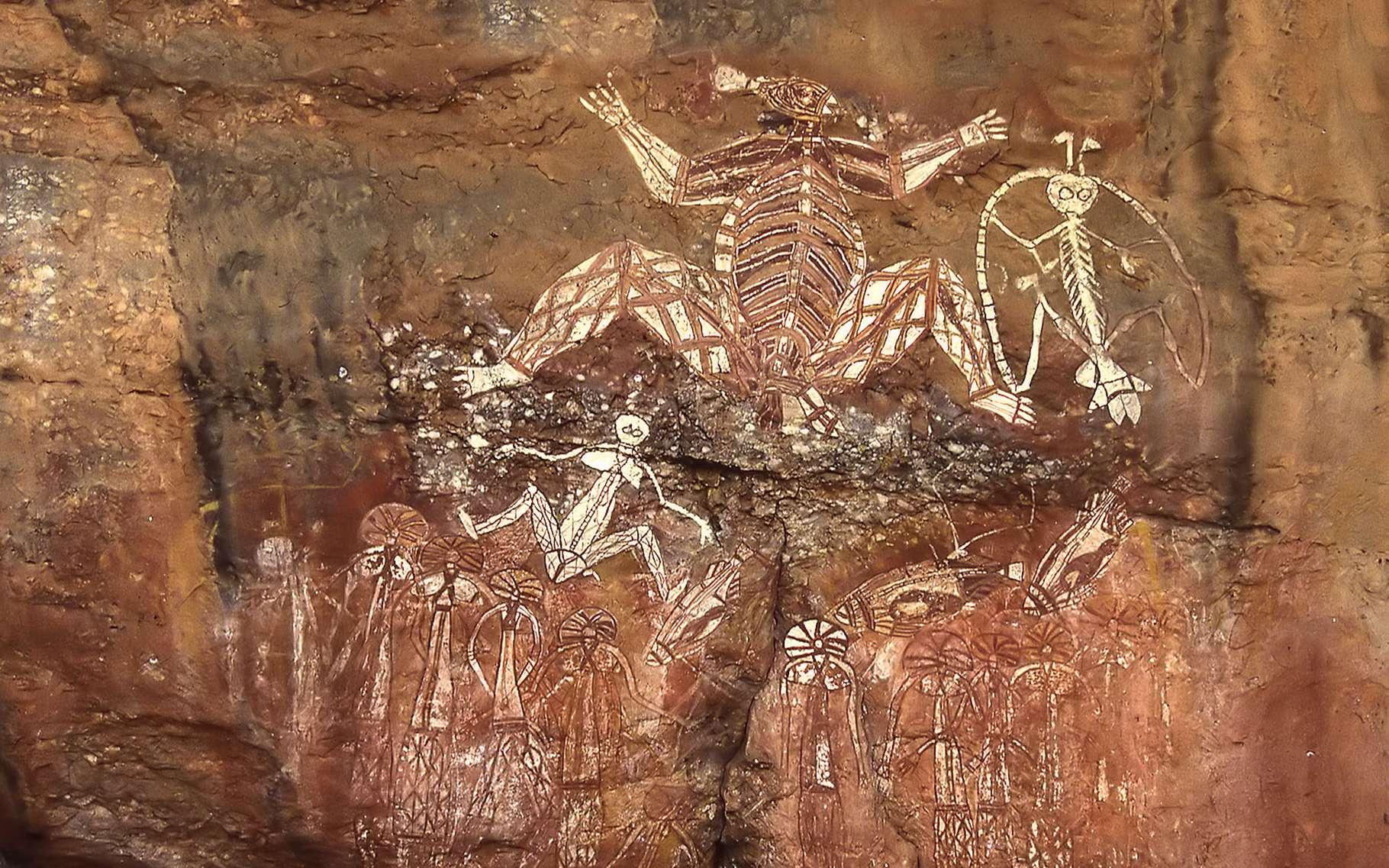 Fresque de Nurlangie Rock. © Sardaka, Wikimedia commons, CC by-sa 4.0