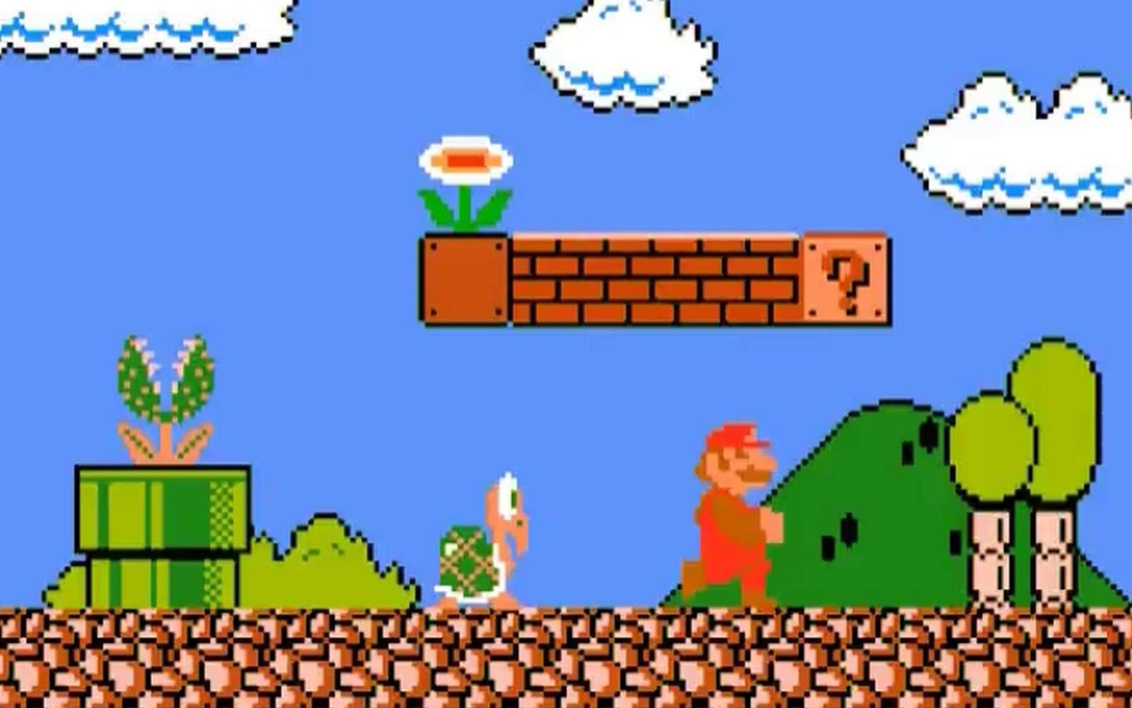 Super Mario Bros. est un grand classique des jeux vidéo de plateforme. Une intelligence artificielle (IA) a recréé un de ces jeux juste en l'observant. © Nintendo