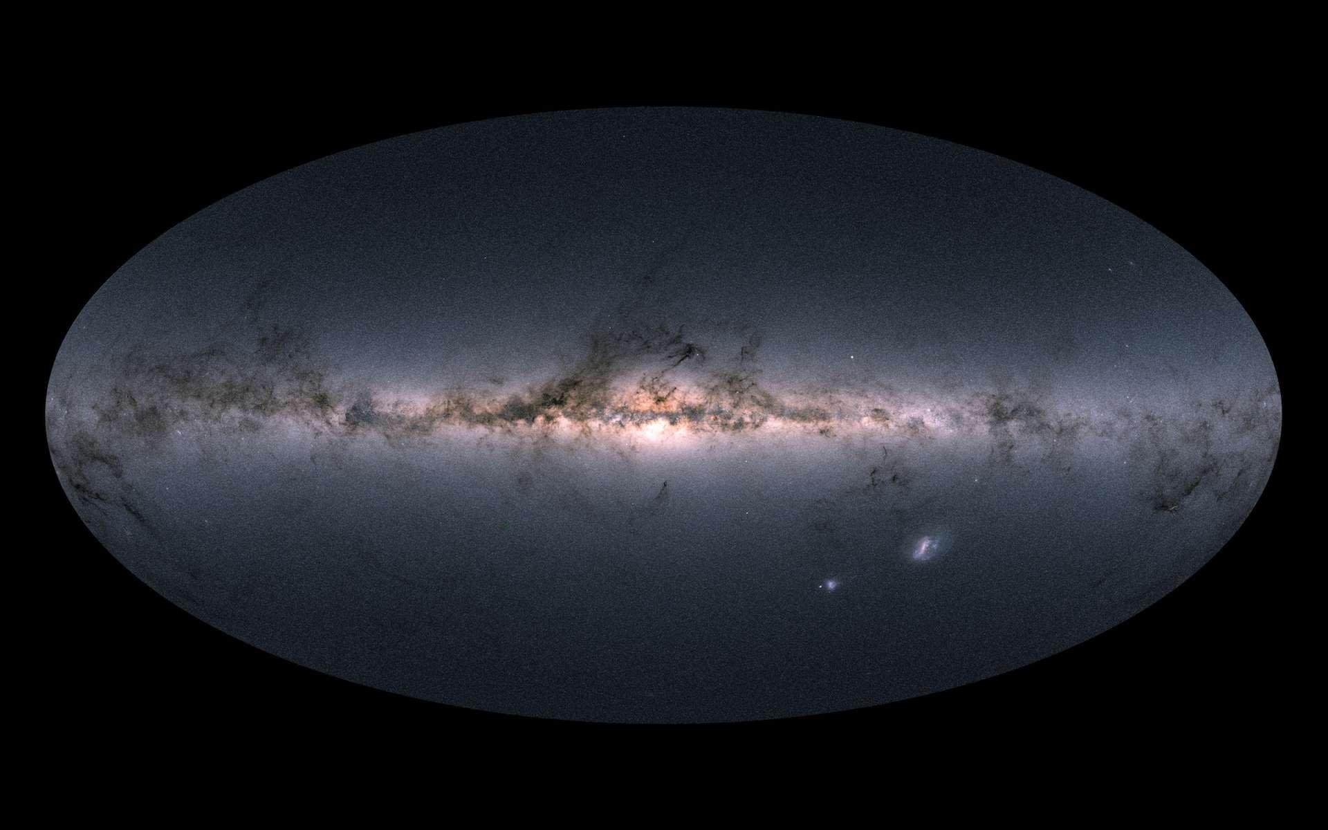 Cartographie de la Voie lactée par le satellite Gaia. © ESA