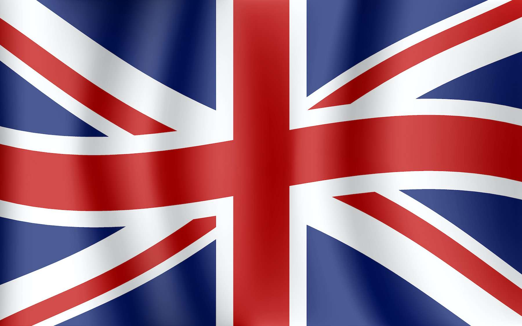 Le drapeau britannique (Union Jack) est un mélange du drapeau écossais, de l'Irlande du Nord et de l'Angleterre). © lidiia, Adobe Stock