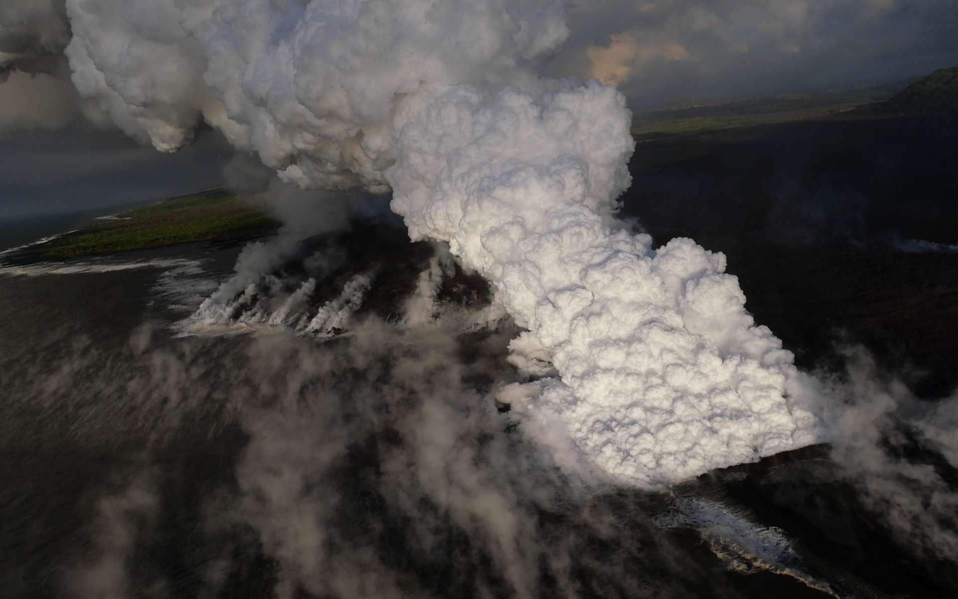 L'éruption du volcan Kīlauea en 2018 à Hawaï. © USGS