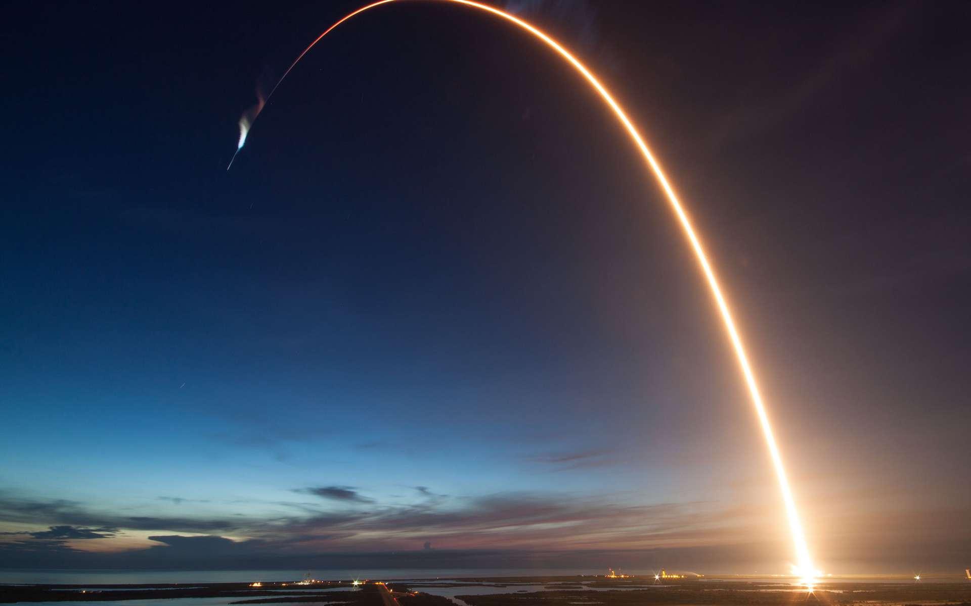 Les lancements de fusées spatiales perturbent le trafic aérien. © Space X