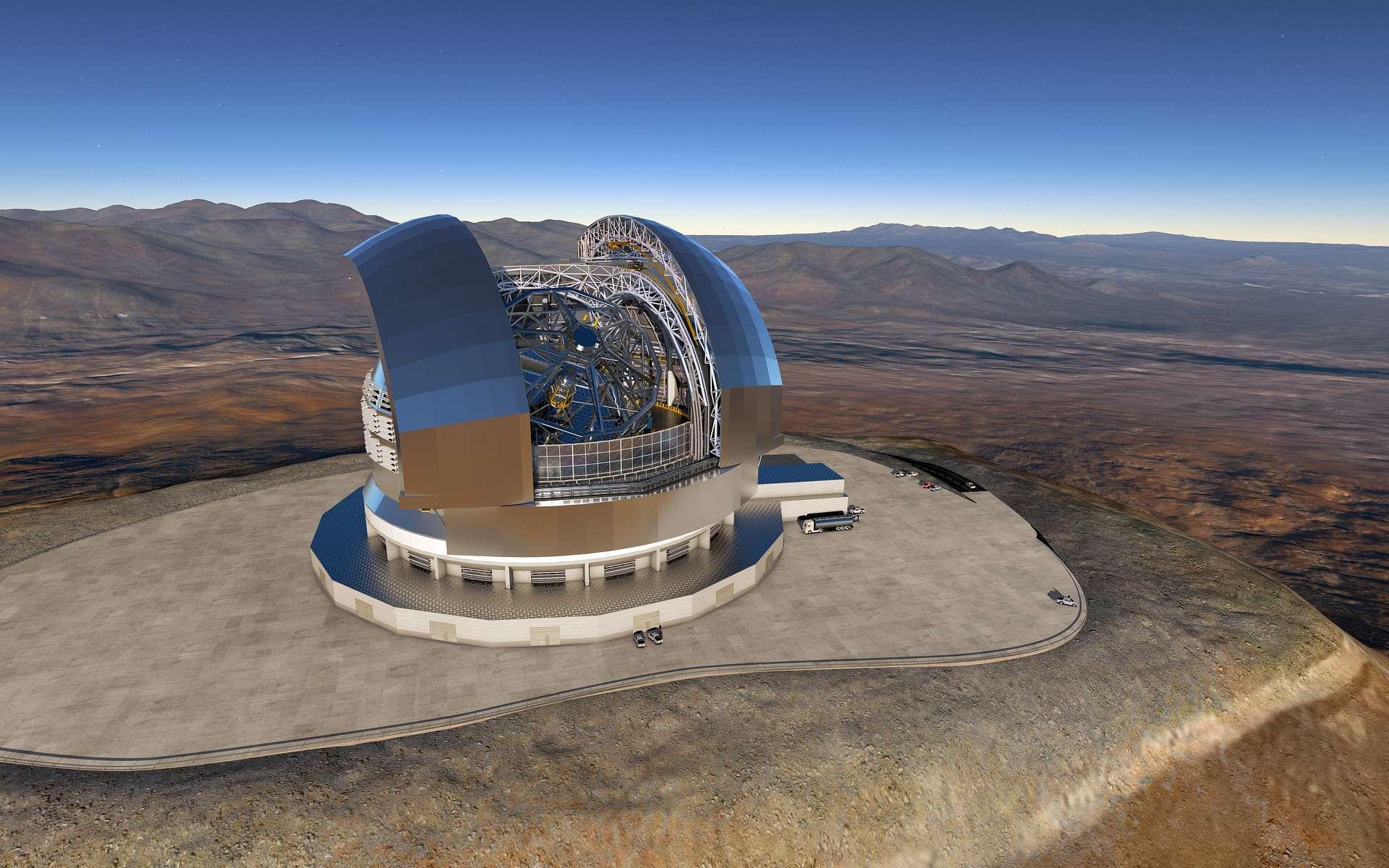 Vue d'artiste du futur télescope géant ELT. © ESO