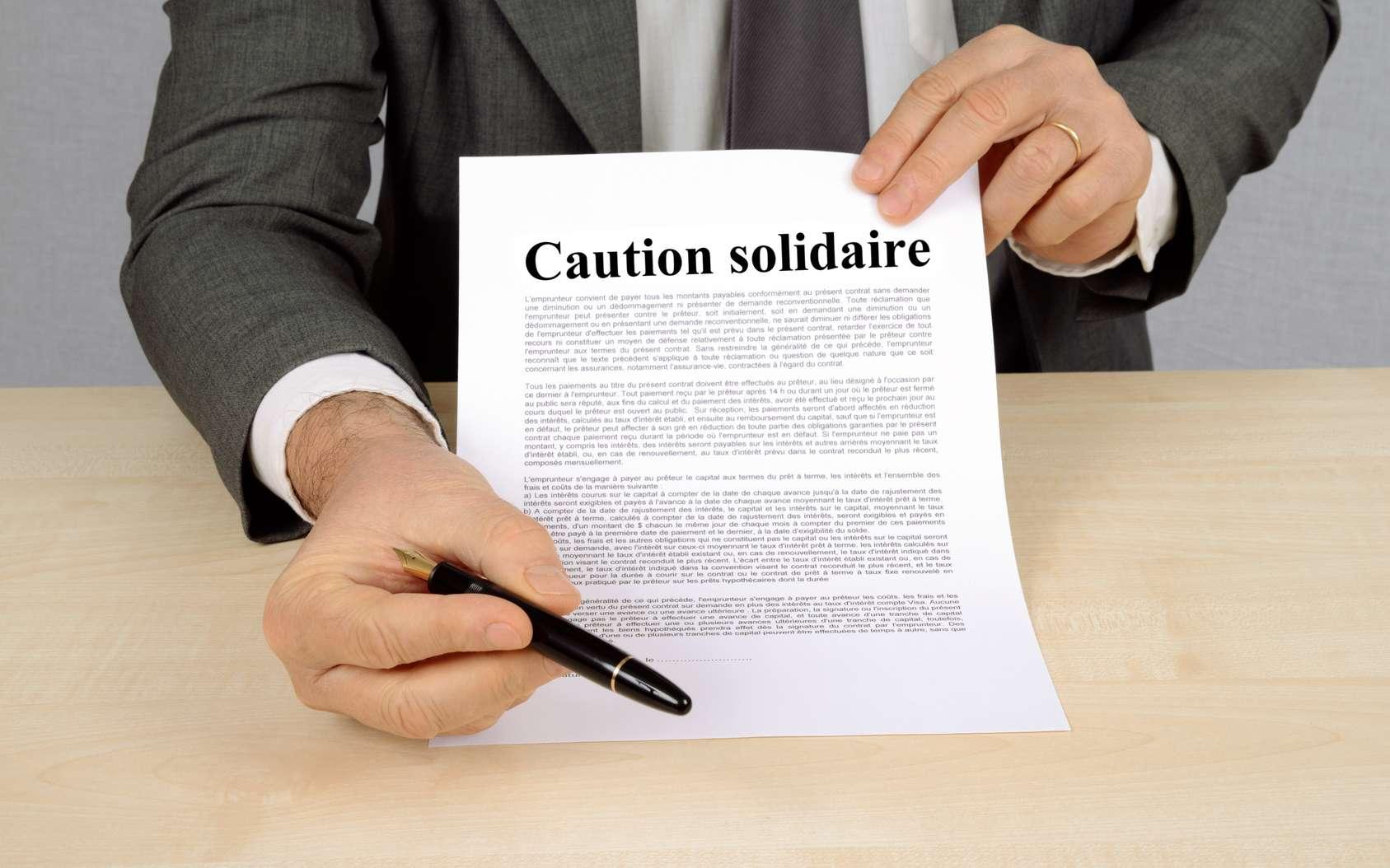 Il existe deux types de cautions : caution simple et caution solidaire. © Fotolia