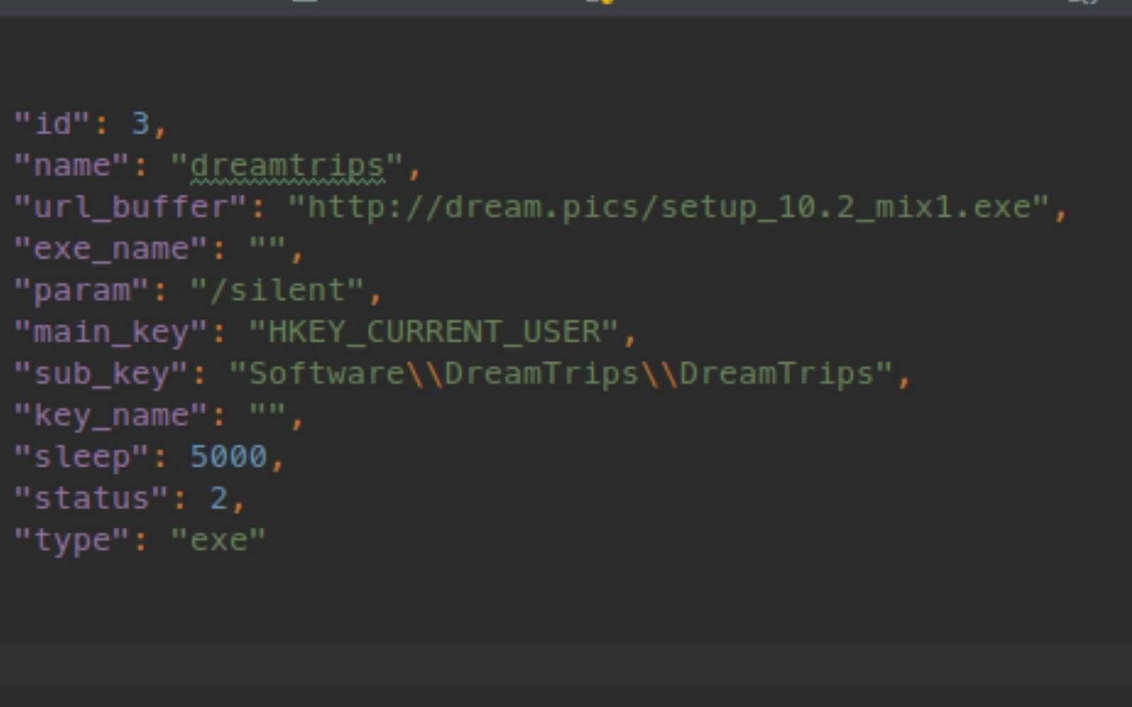 Voici un morceau du code malveillant permettant au hacker d'opérer. © Proofpoint