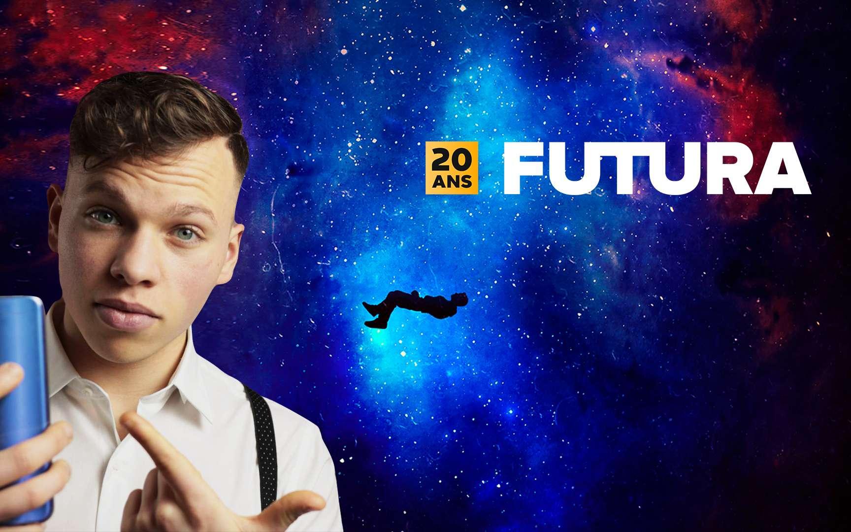 À l'occasion de ses 20 ans, Futura s'associe à Corentin Colin, le créateur de contenus web vidéo, pour vous présenter la plus énorme des surprises que les équipes de votre média préféré vous réservent. © Futura