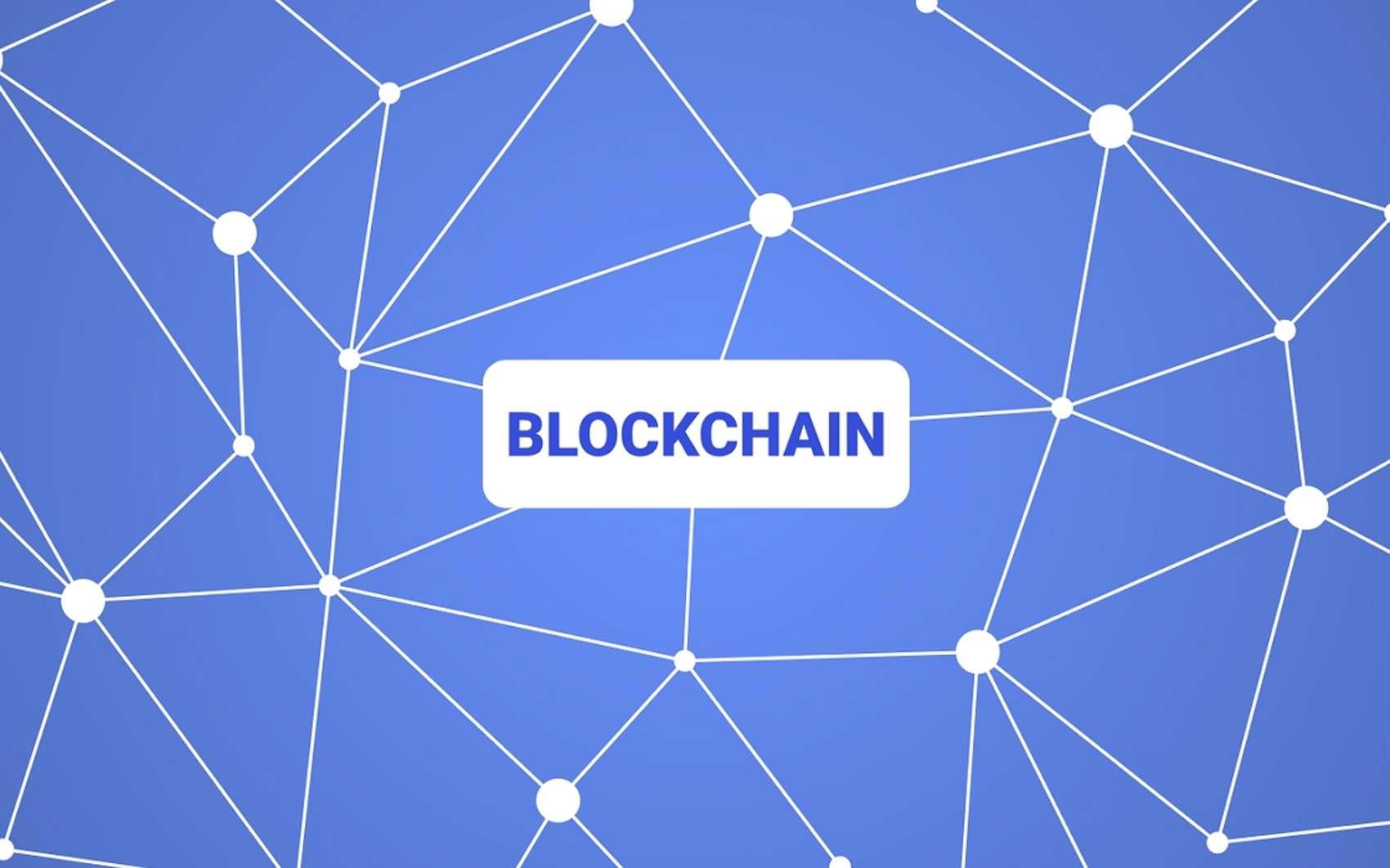 La blockchain, ou chaîne de blocs, est une technologie de stockage et de transmission d'informations sans organe de contrôle. © Clic2Load