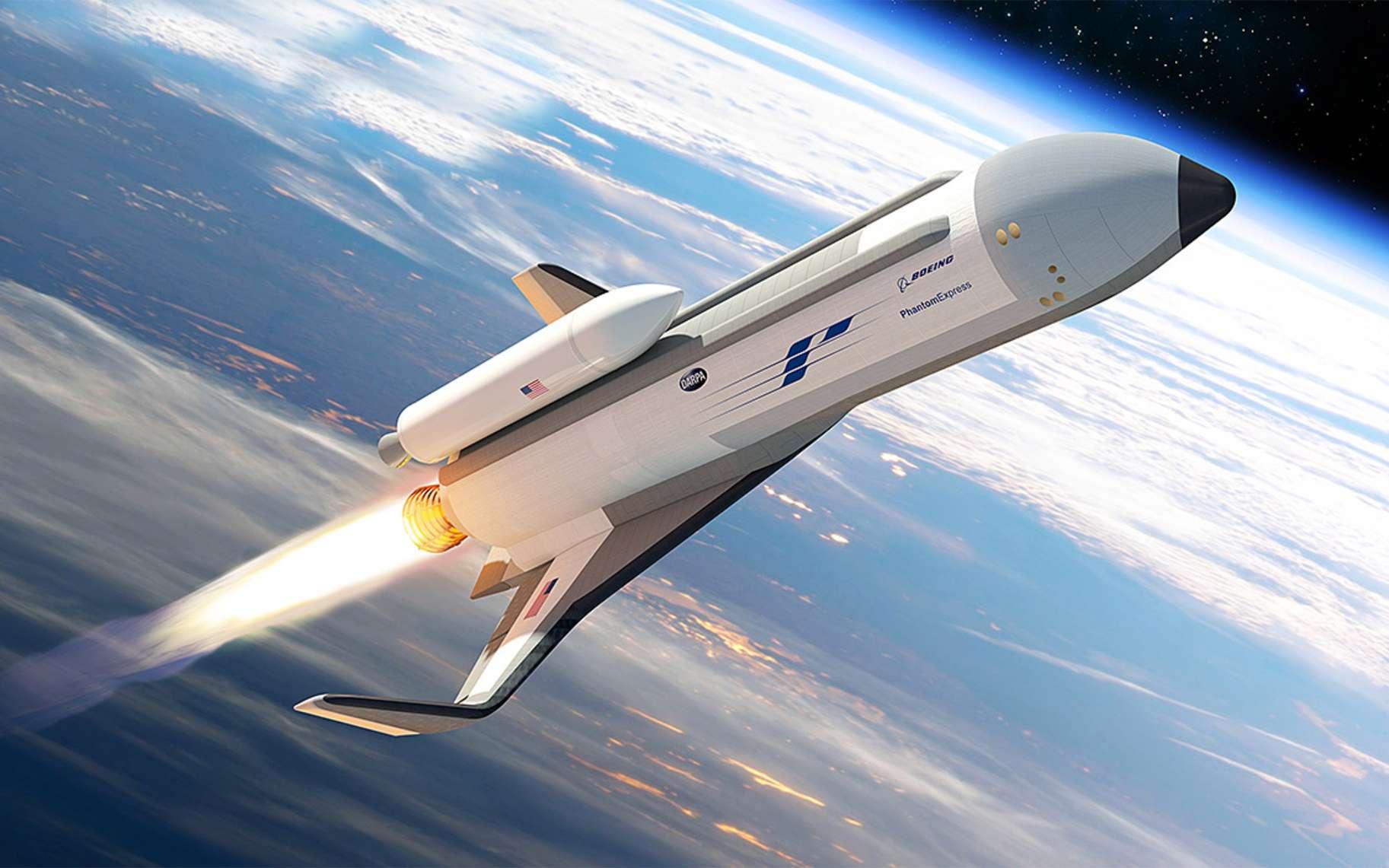 Le concept du XS-1 proposé par Boeing en réponse aux besoins de la Darpa, qui souhaite un lanceur réutilisable. © Phantom Works, Boeing