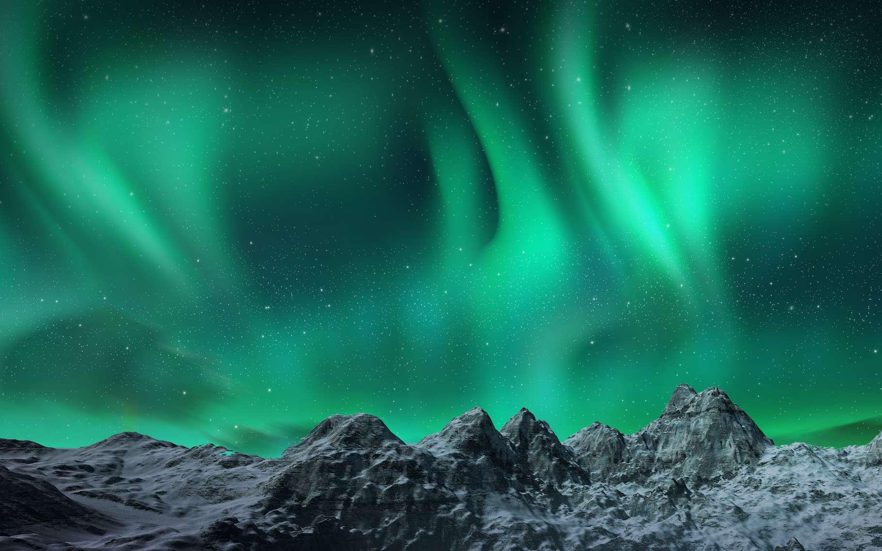 Il y a 42.000 ans, le champ magnétique de la Terre s'est inversé. Il a même momentanément presque disparu, permettant à de splendides aurores de se former bien au-delà des régions polaires. © Aomarch, Adobe Stock