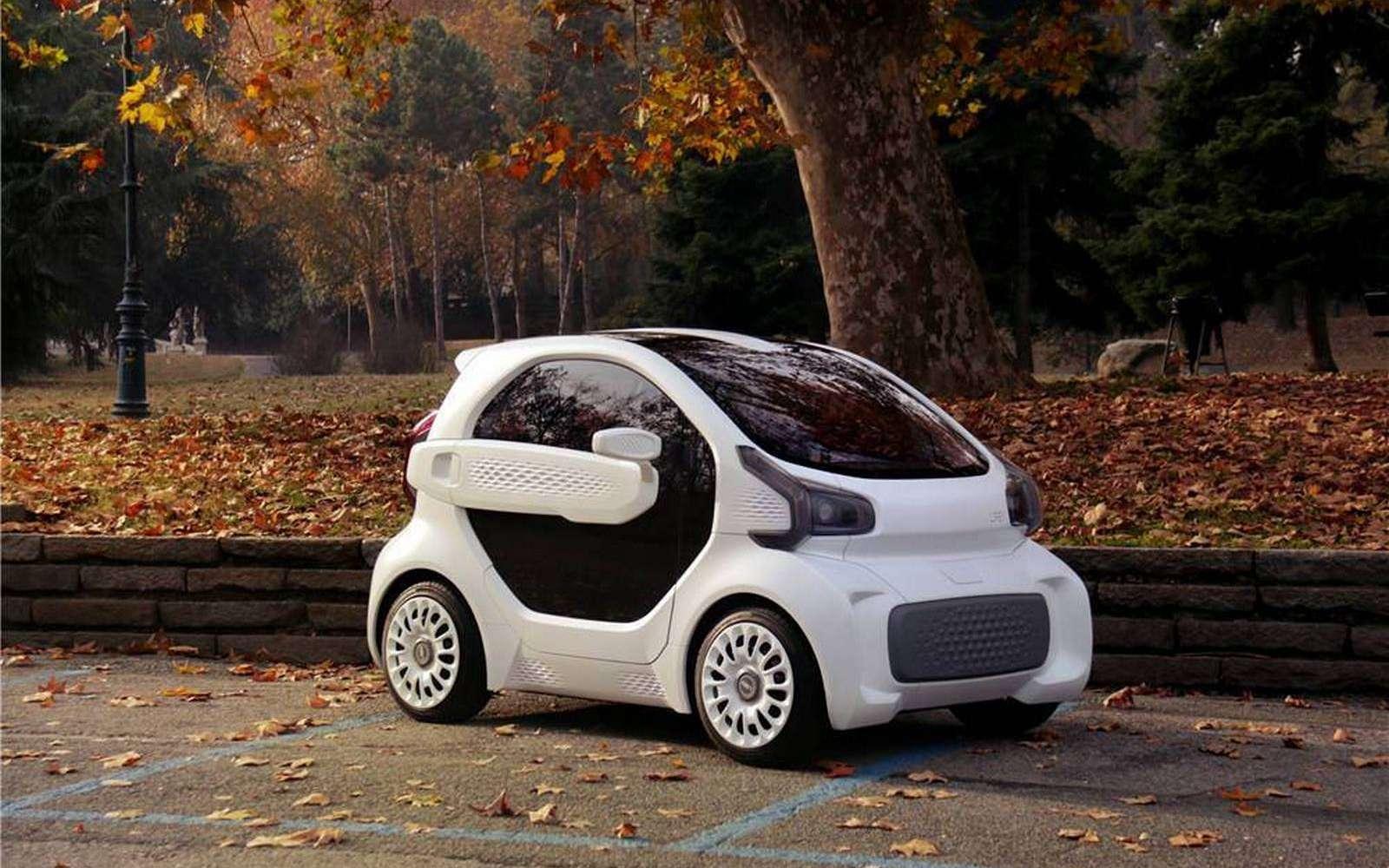 Voici le prototype de la LM3D Swim qui ambitionne de devenir la première voiture de série imprimée en 3D. © Local Motors