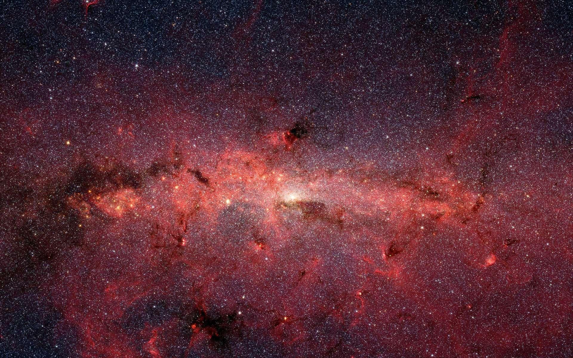 Le cœur de la Voie lactée vue par le télescope spatial Spitzer de la Nasa. © Nasa, JPL-Caltech, Susan Stolovy (SSC/Caltech) et al.