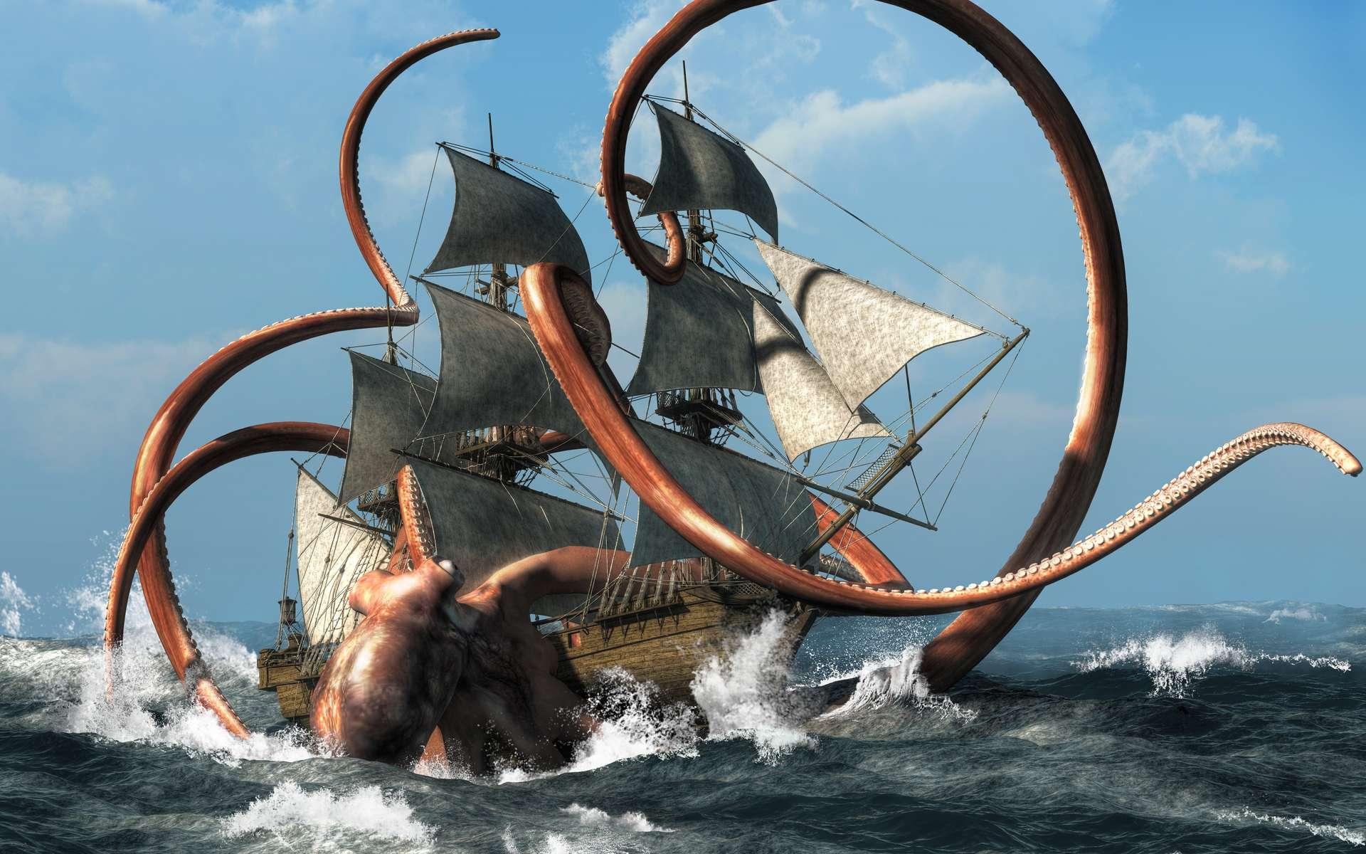 Le Kraken est une créature mythologique qui a notamment été assimilée au calmar géant. © Daniel, Adobe Stock
