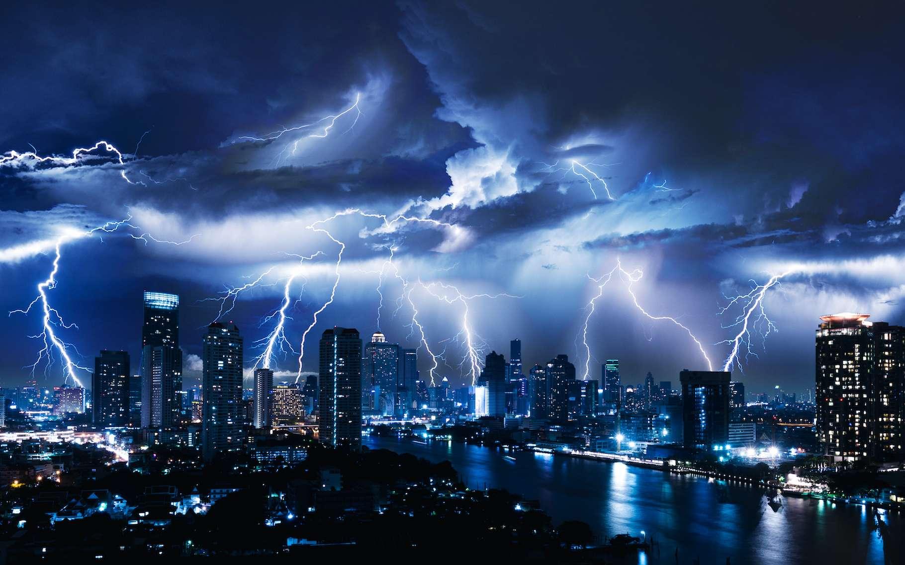 Des chercheurs de l'Académie des sciences chinoise ont enregistré le moment où se décide la trajectoire de la foudre. © stnazkul, Adobe Stock