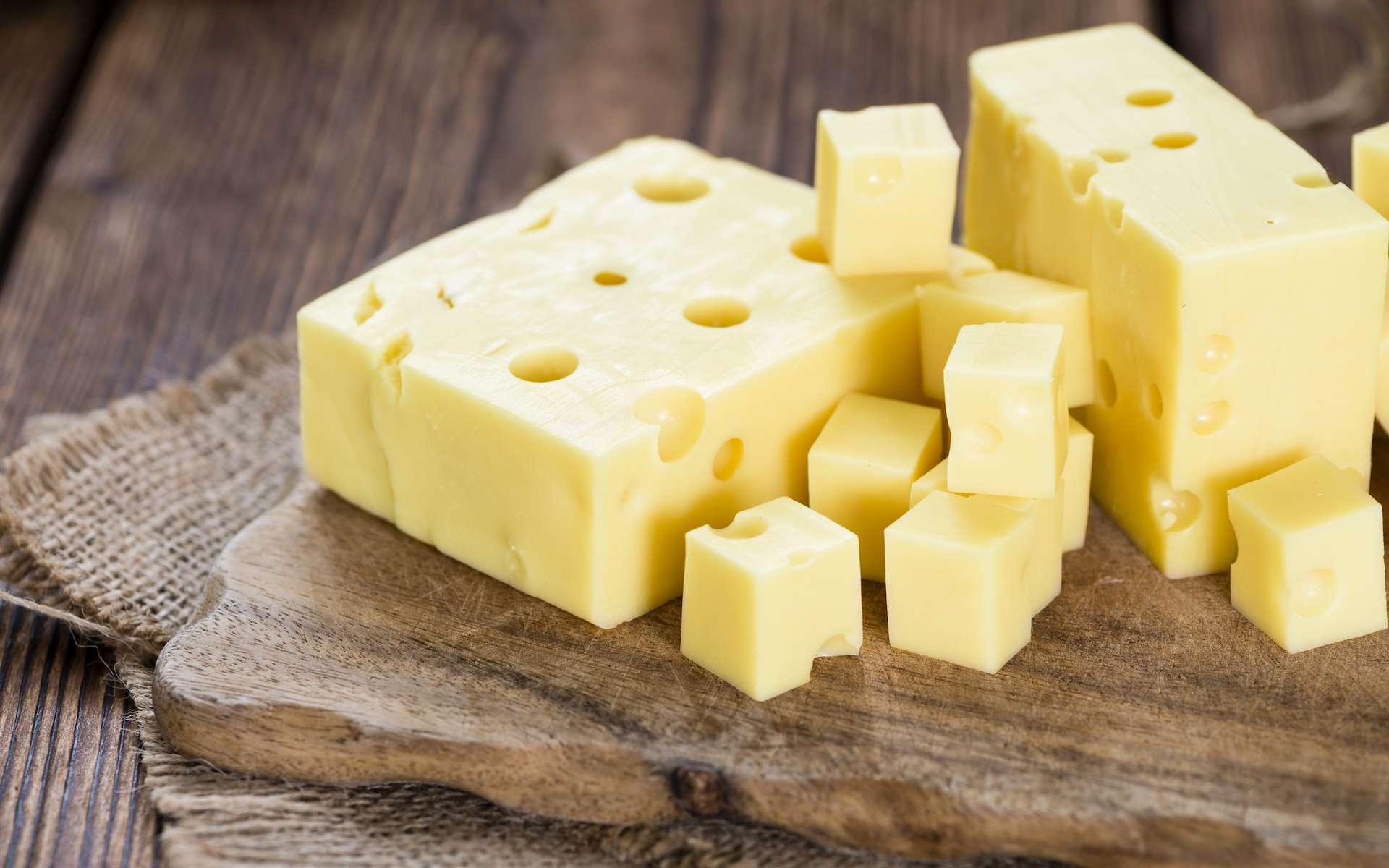 Si l'emmental a des trous, c'est à cause de microparticules de foin qui tombent par accident dans le lait au moment de la traite. © HandmadePictures, Shutterstock