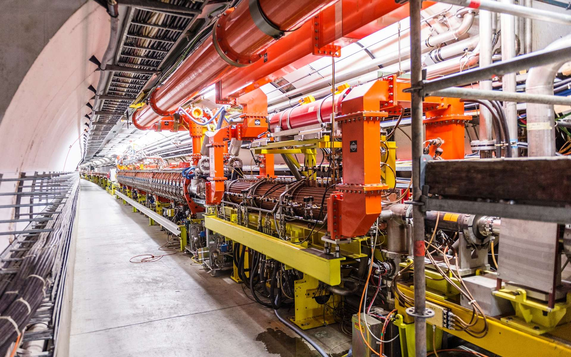 Une vue du Supersynchrotron à protons du Cern en 2013. C'est actuellement le second accélérateur de particules en taille après le LHC dans le monde. © Piotr Traczyk