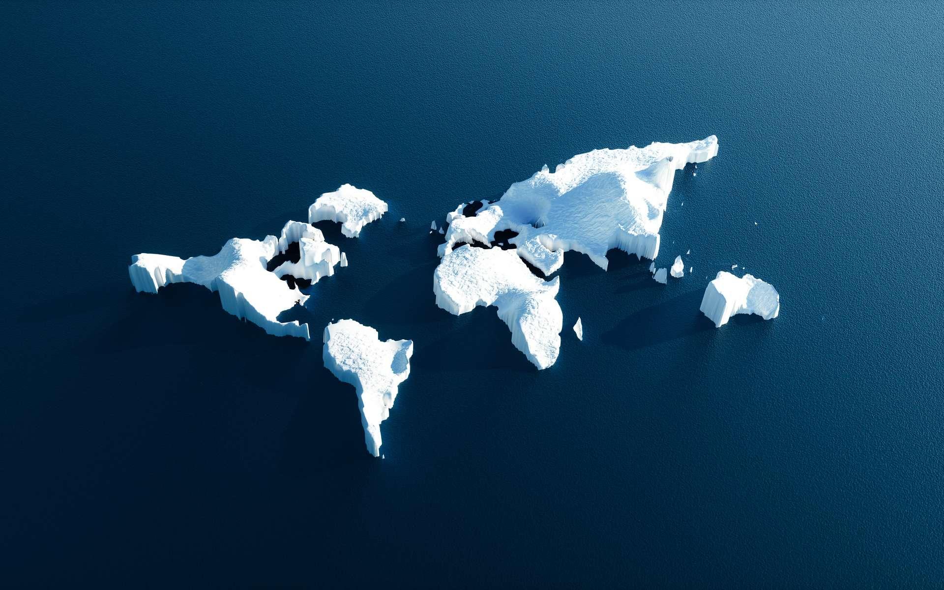 Lors de ses périodes glaciaires, la Terre voit la majeure partie des continents englacés. © malp, Adobe Stock