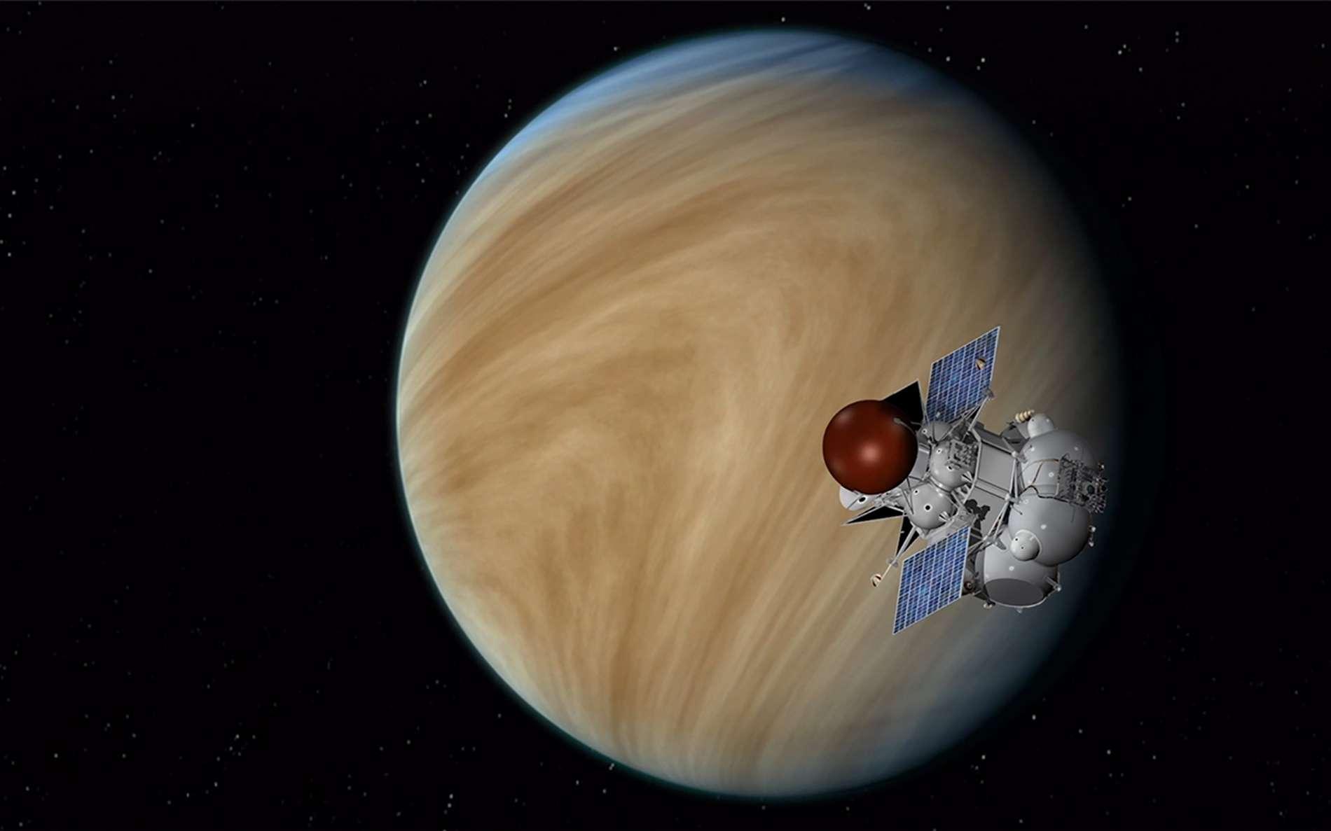 La planète Vénus et une vue d'artiste de la mission Venera-D. @ JPL, Nasa