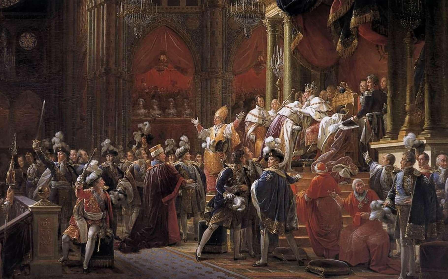 Le sacre de Charles X. © Musée des Beaux-Arts de Chartres, Wikimedia commons, DP