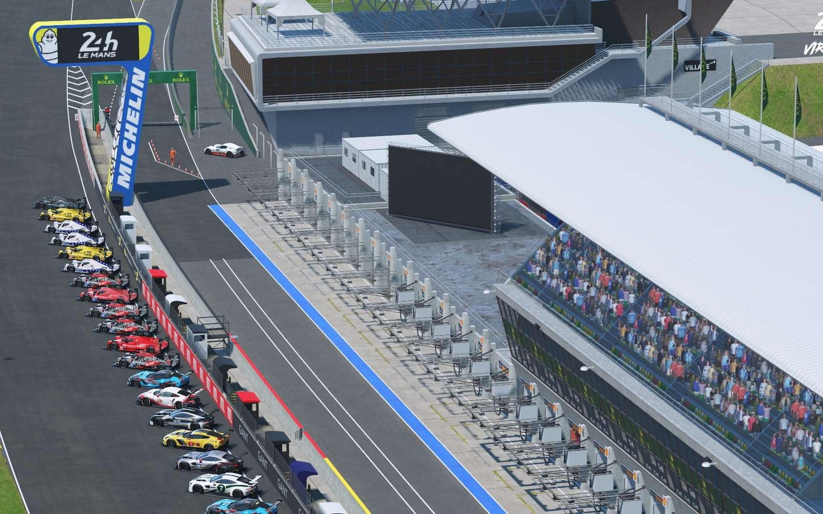 La 88e édition des 24 Heures du Mans en version virtuelles (13-14 juin) verra s'affronter sur simulateur des pilotes de courses professionnels et des champions esports. © Les 24 Heures du Mans