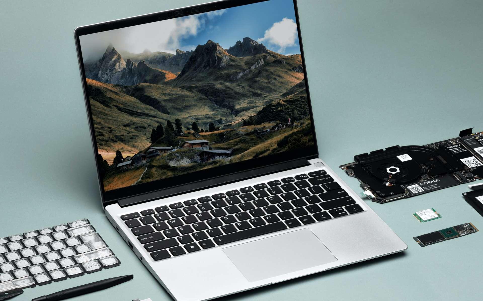 Au choix, on reçoit l'ordinateur en kit ou déjà assemblé. © Framework