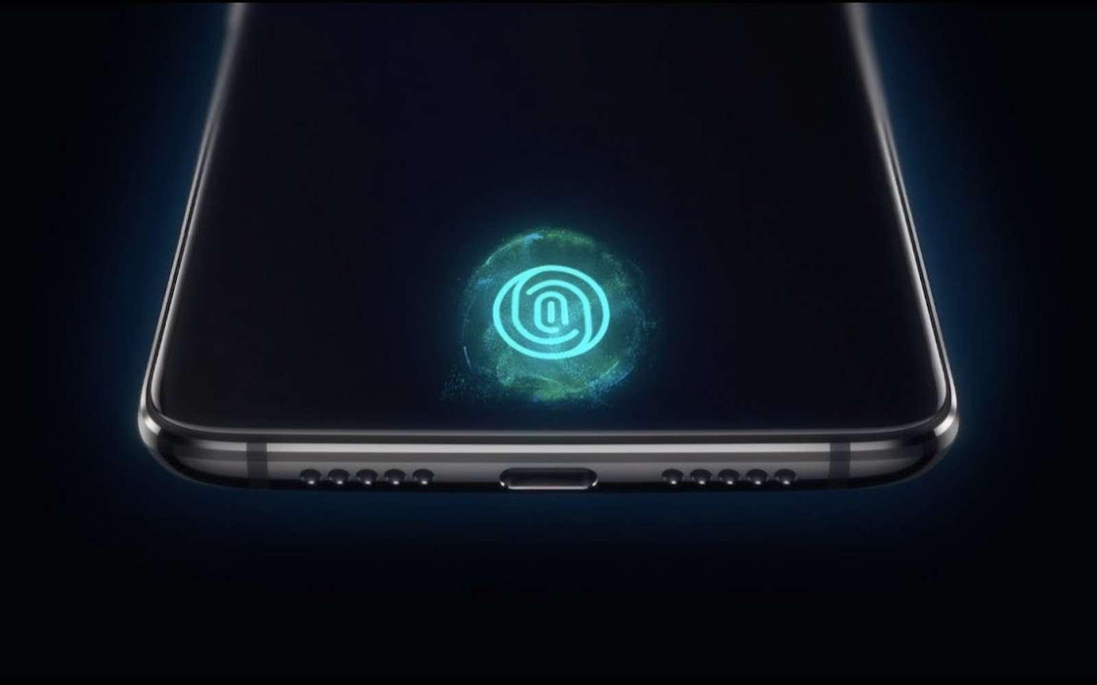 Plus besoin d'un bouton pour s'identifier avec un capteur d'empreinte puisqu'il est désormais caché sous l'écran. © OnePlus
