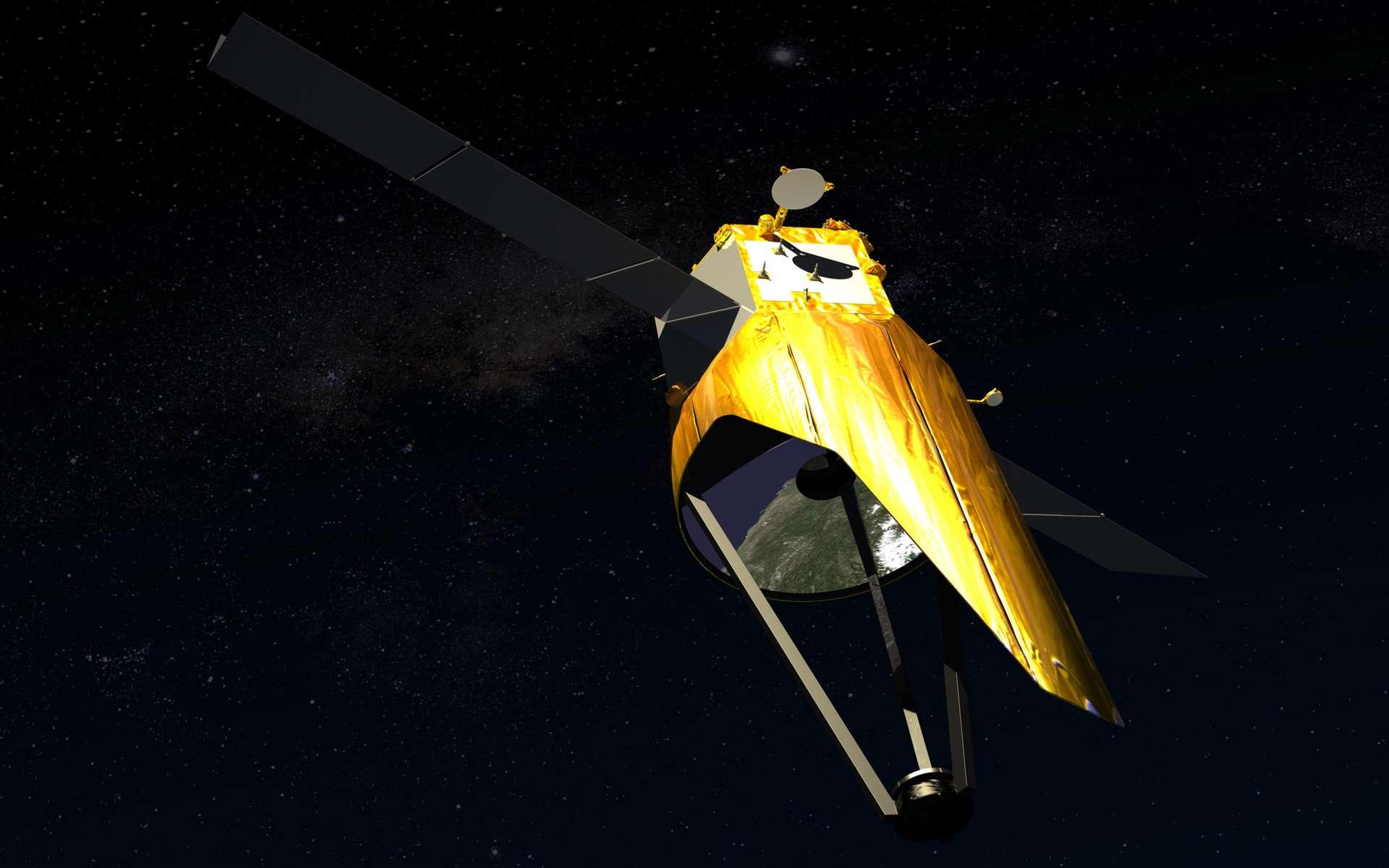 Une fois positionné sur son orbite géostationnaire, GO-3S dominera un tiers de la planète et sera capable d'observer en temps réel n'importe quel point en moins de 5 minutes. © Astrium