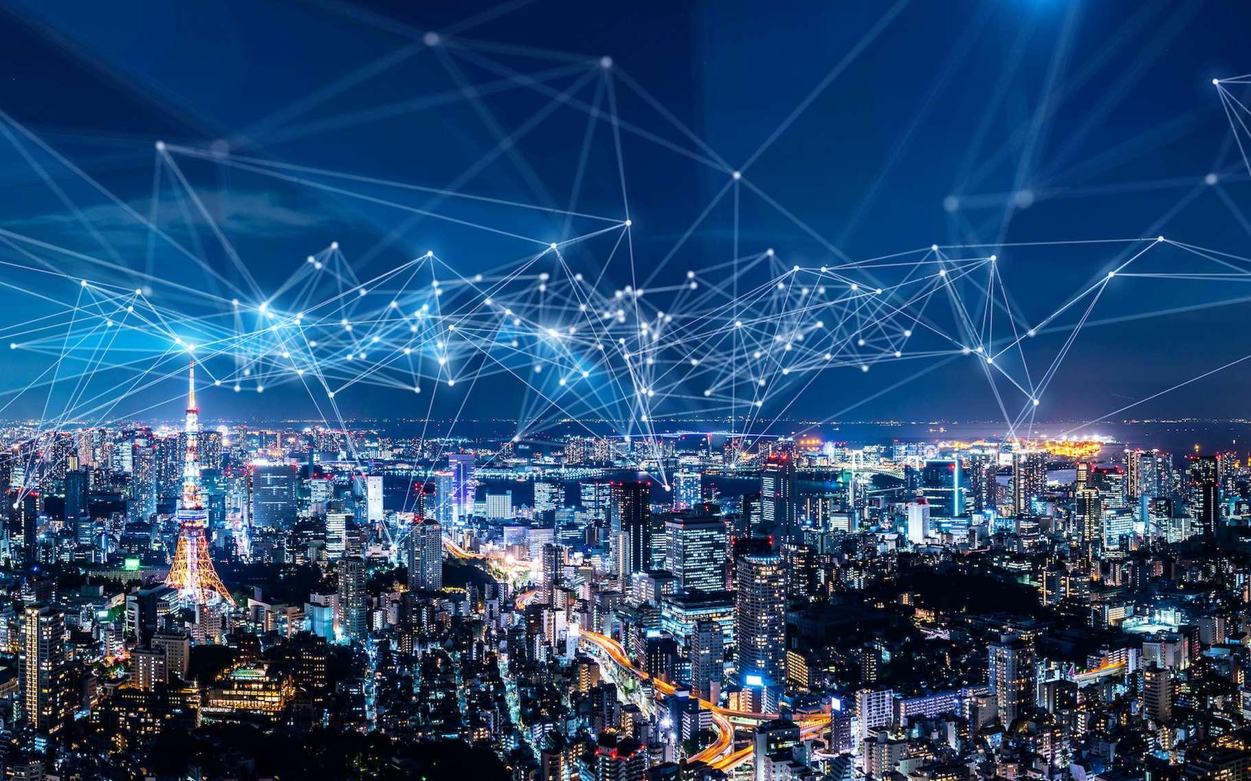 Des capteurs, une intelligence artificielle, mais surtout, un être humain et son environnement replacés au centre des problématiques. C'est ainsi que se définit le concept de smart city. © metamorworks, Adobe Stock