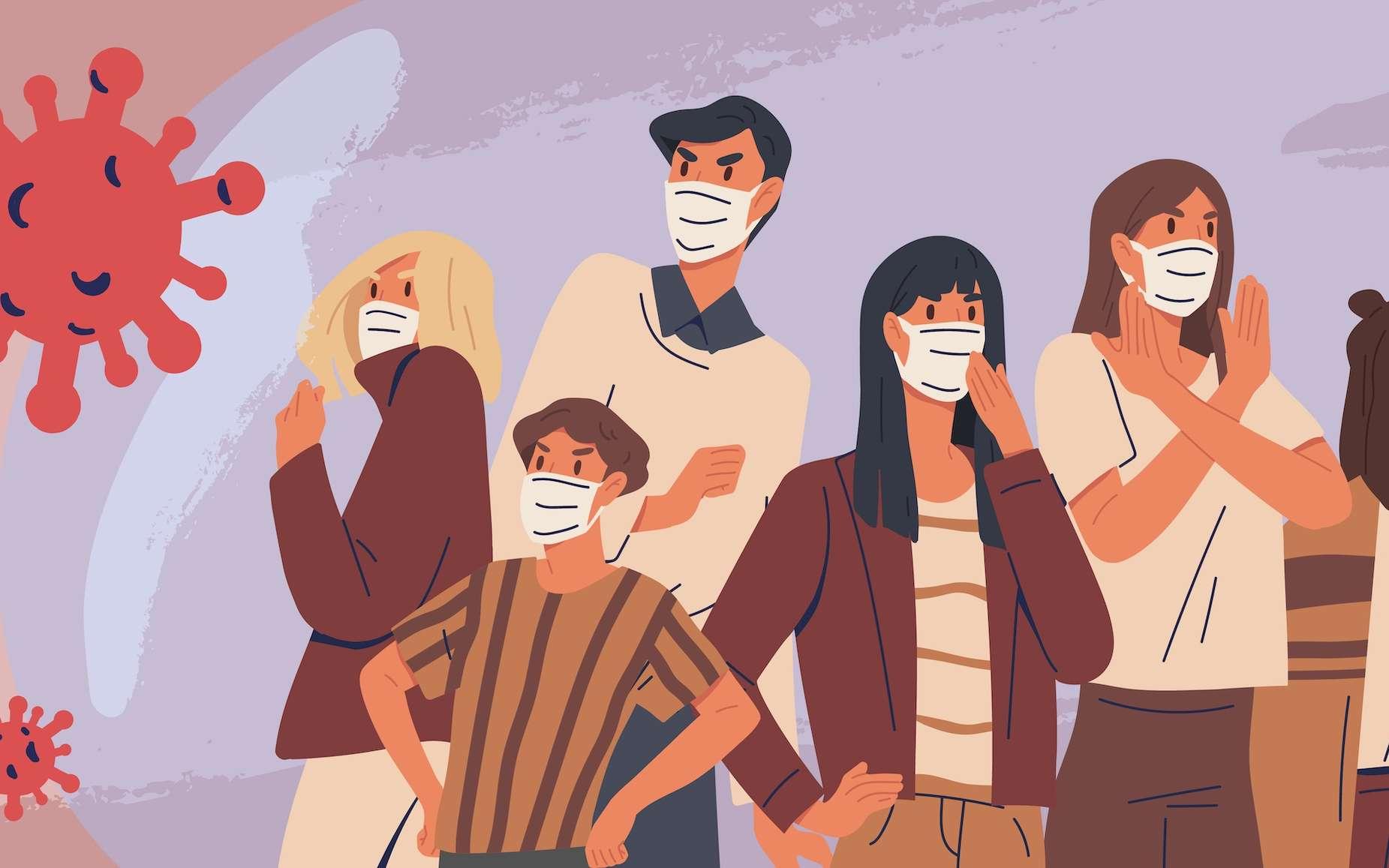 Face au risque de la Covid-19, nous sommes tous différents. © Good Studio, Adobe Stock