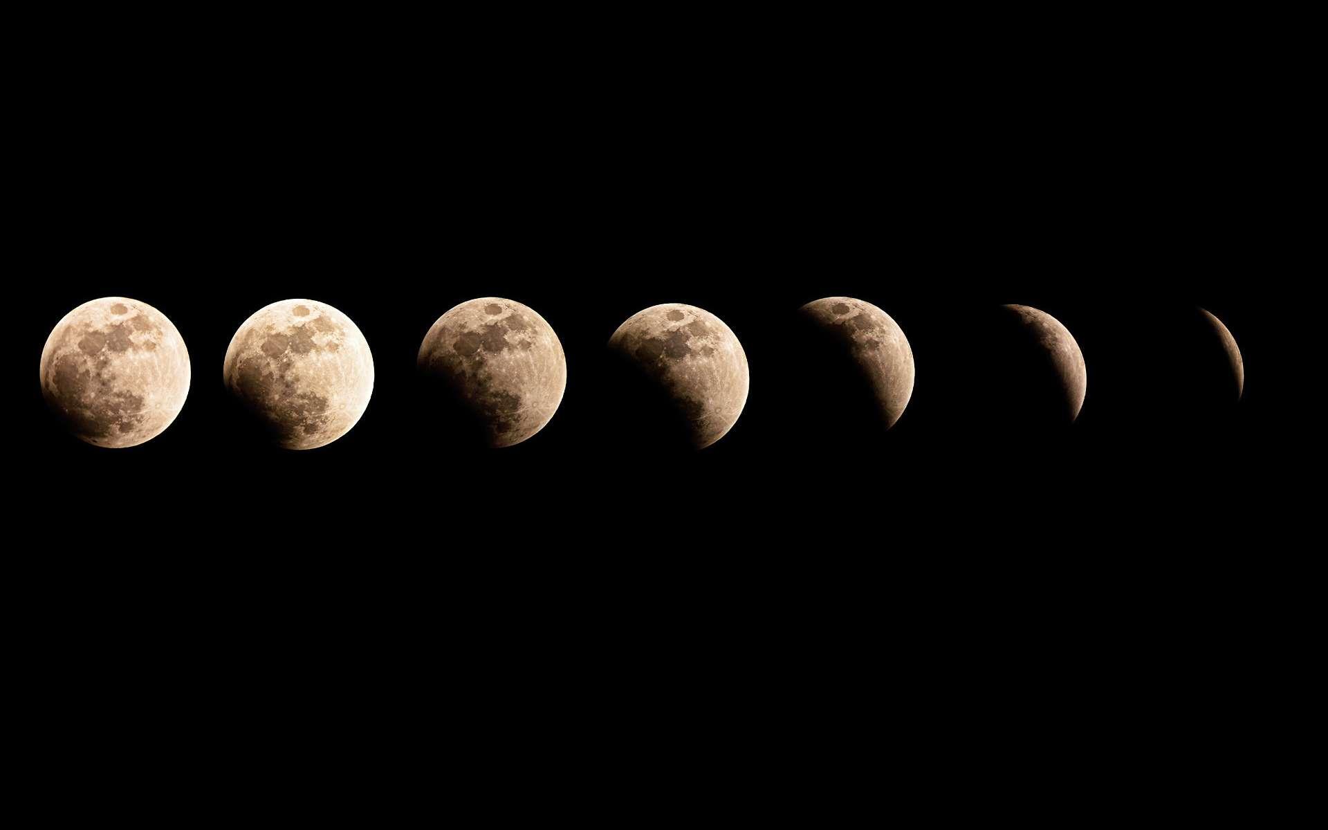 Phases de la Lune. © Domaine Public