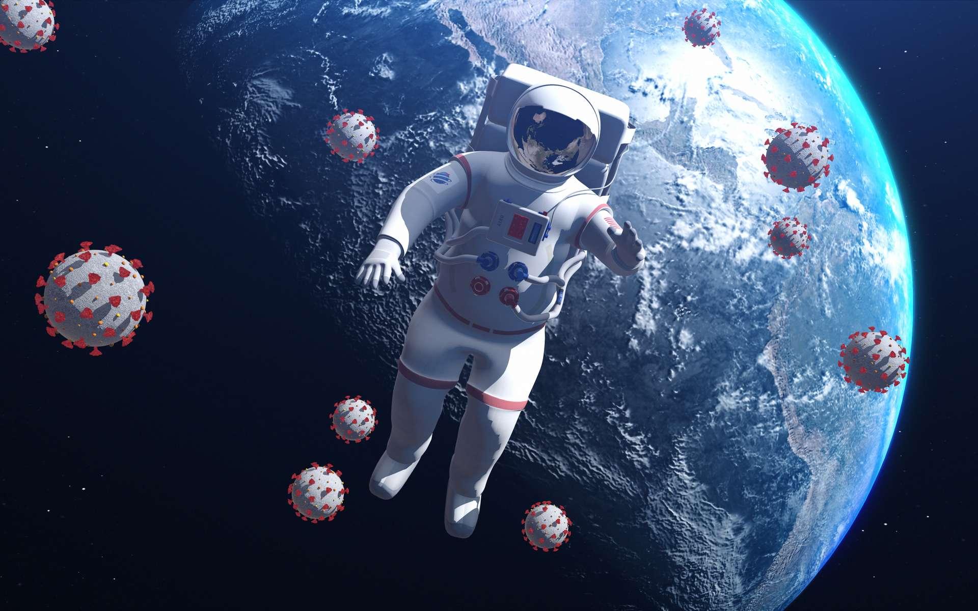 La microgravité diminue la réponse immunitaire des astronautes, laissant aux pathogènes plus de libertés pour se multiplier. © Yucel Yilmaz, Adobe Stock