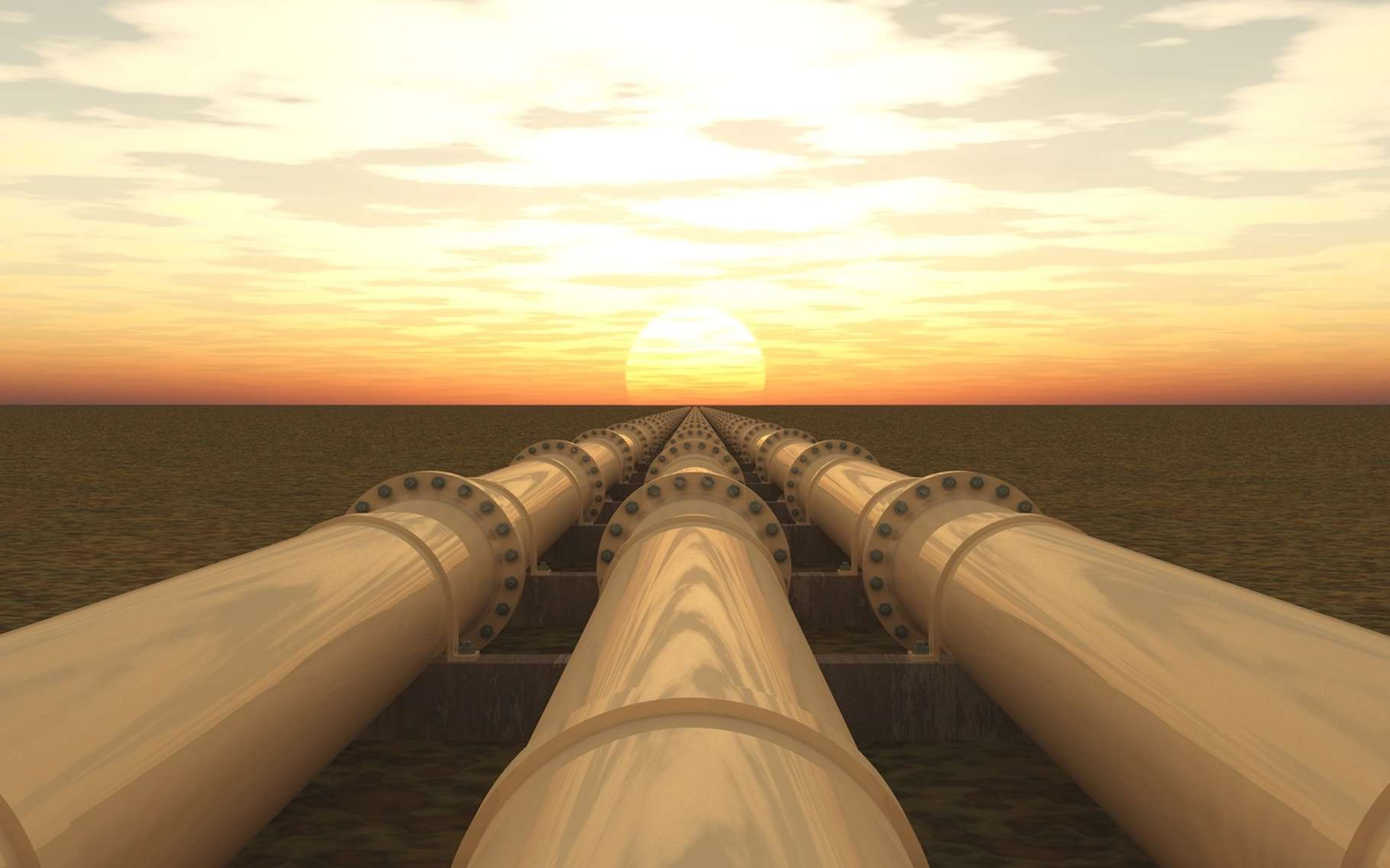 C'est dans des réseaux d'oléoducs que le pétrole, brut ou raffiné, est transporté à travers le monde. © bht2000, Fotolia