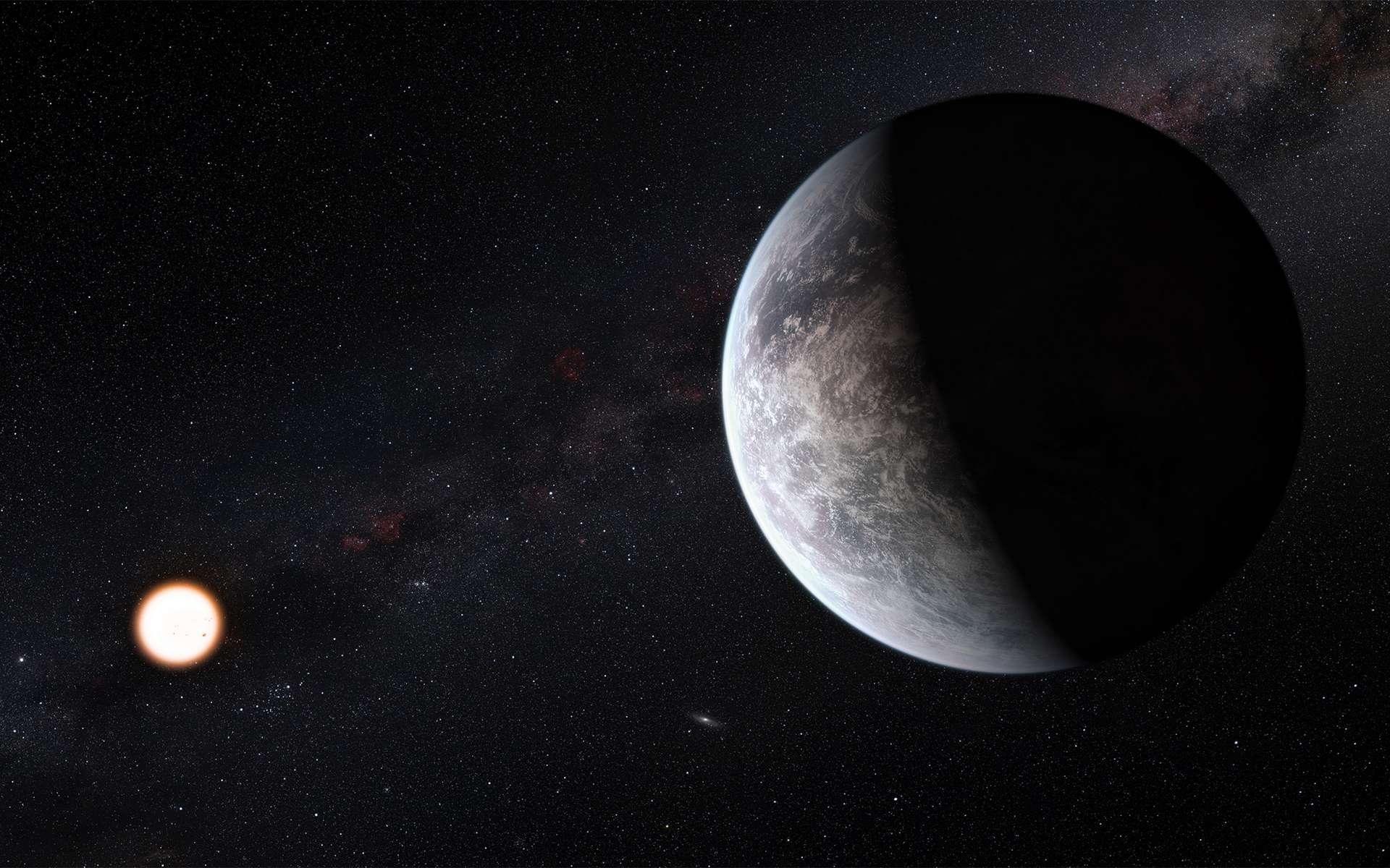 Vue d'artiste d'une exoplanète tellurique à proximité de son étoile. @ ESO, M. Kornmesser