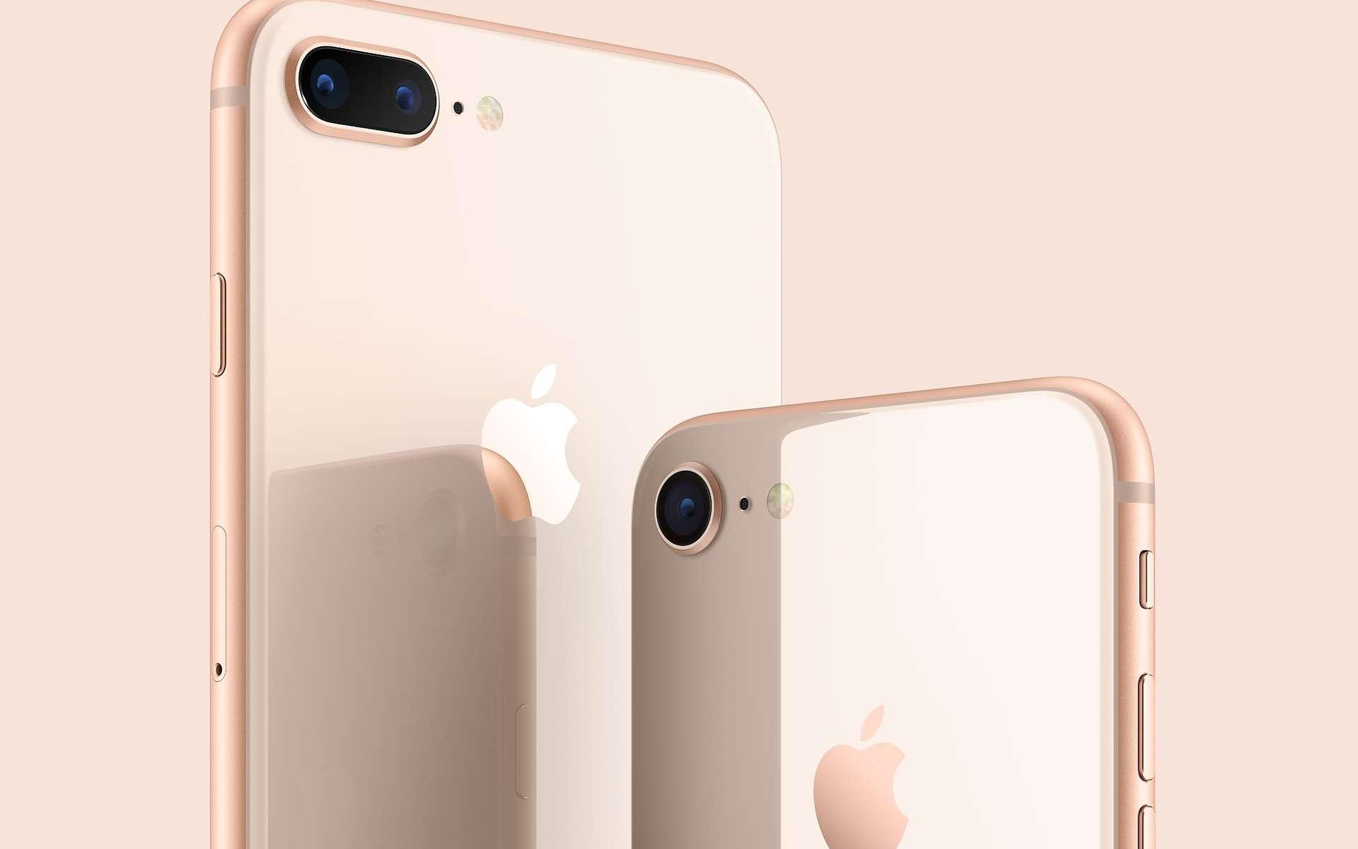 L'iPhone 8 Plus d'Apple est disponible depuis une semaine environ. Trois cas de batteries déformées ont été signalés en Asie. © Apple