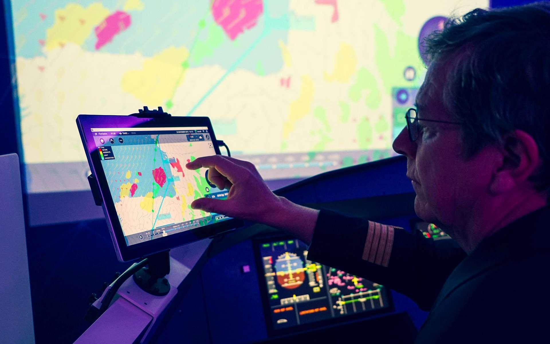 PureFlyt, le futur système de gestion de vol de Thales, s'apparente à un cerveau pour piloter en toute sécurité les avions commerciaux. © Thales