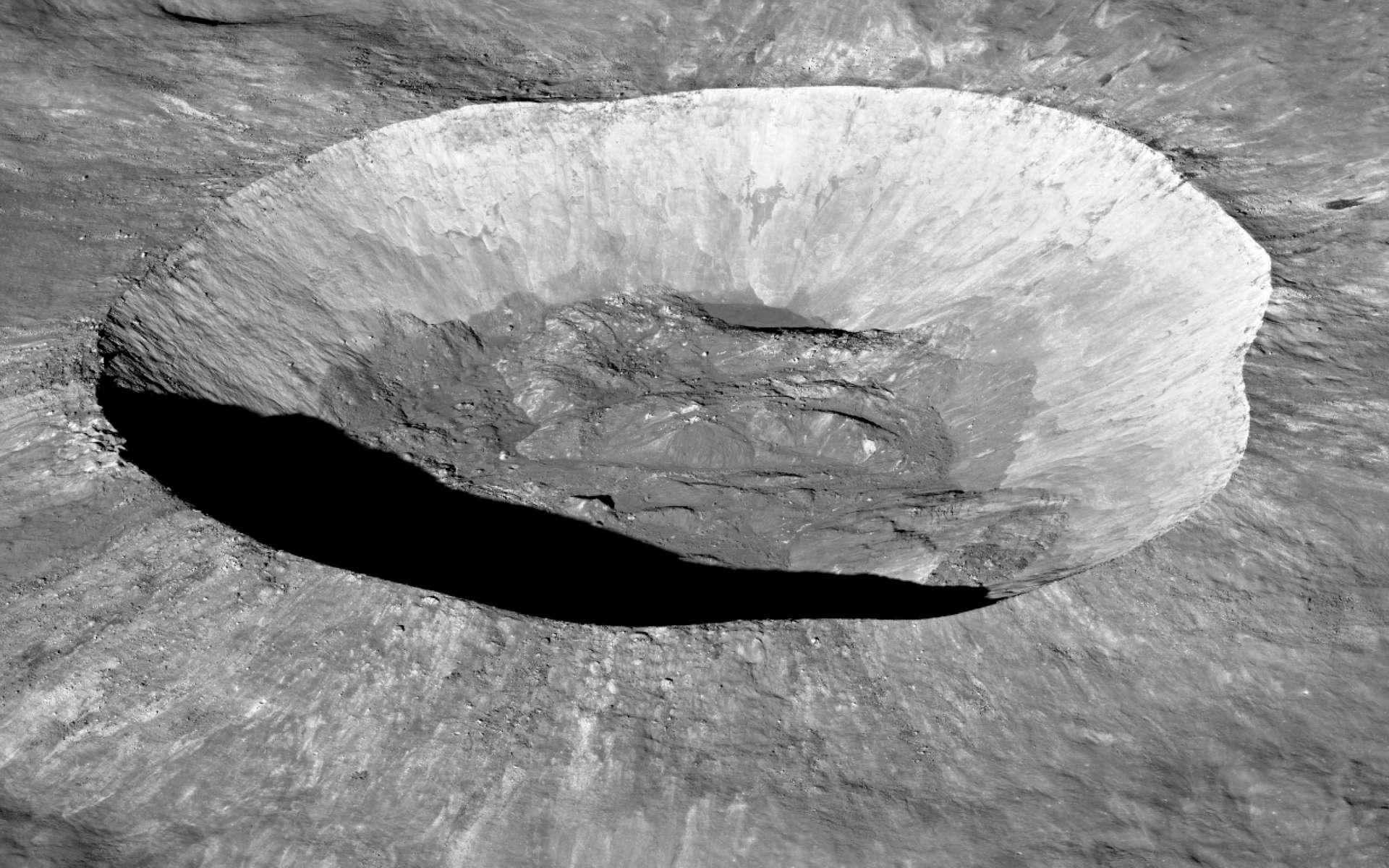 Le cratère Giordano Bruno, situé sur la face cachée de la Lune. © Nasa, Goddard, Arizona State University