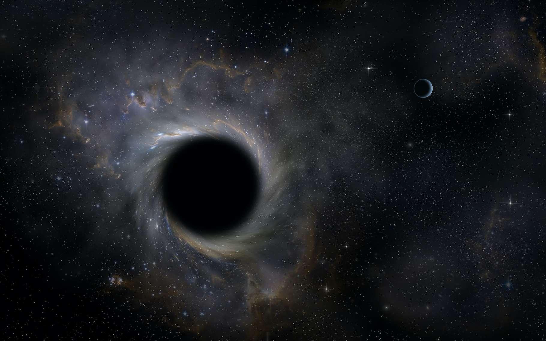 Des chercheurs de l'université de Birmingham (Royaume-Uni) veulent partir à la chasse aux trous noirs « hiérarchiques », des trous noirs qui se forment suite à des fusions successives. © trahko, Adobe Stock