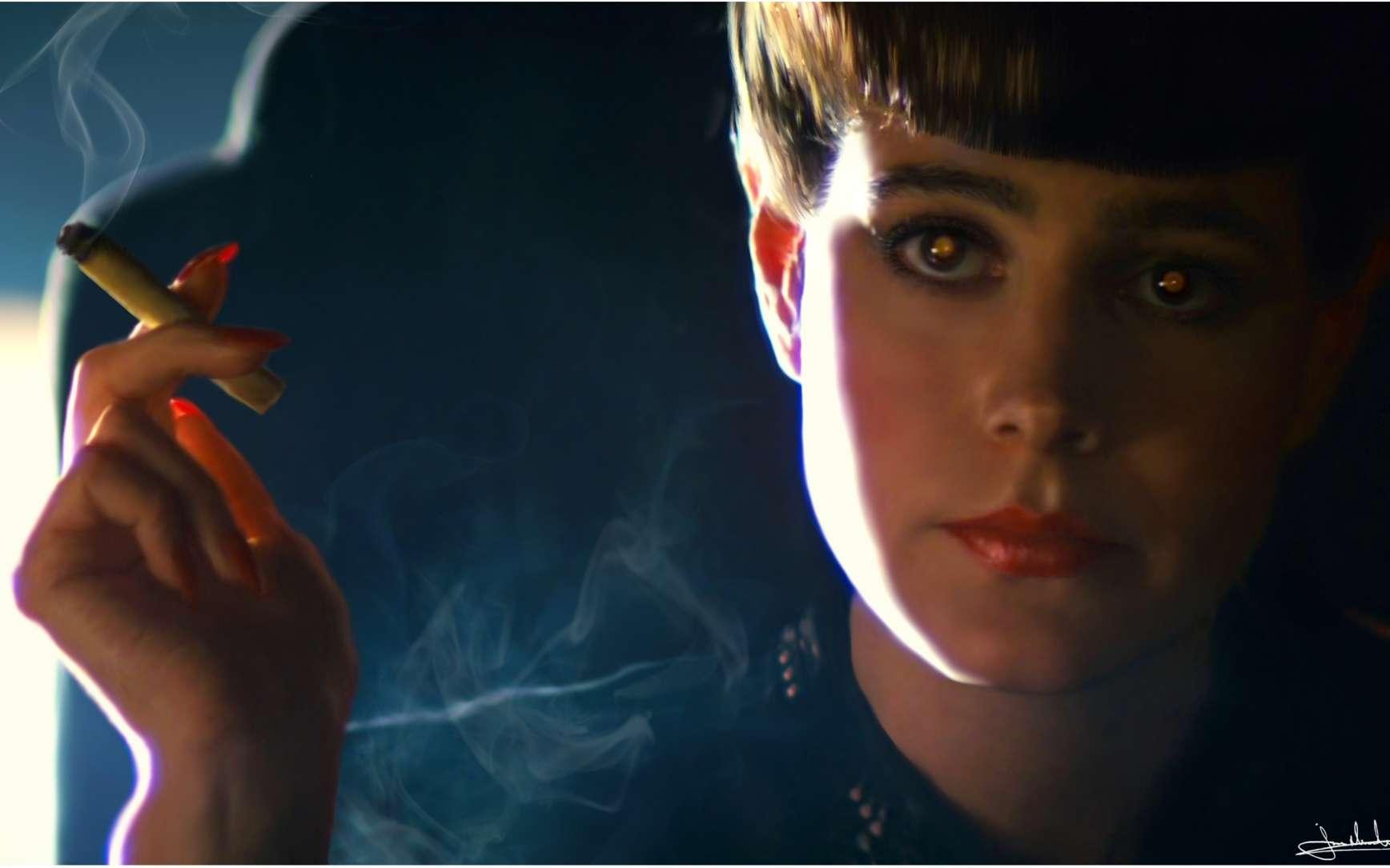 Rachel, un personnage du film Blade Runner, de Ridley Scott, est un robot doué non seulement de l'apparence humaine mais aussi d'une sensibilité et d'une intelligence proches de celles des humains. L'hypothèse est crédible, pour Pierre Calmard, au moins parce qu'elle montre « un floutage extrême entre conscience naturelle et artificielle ». © DR