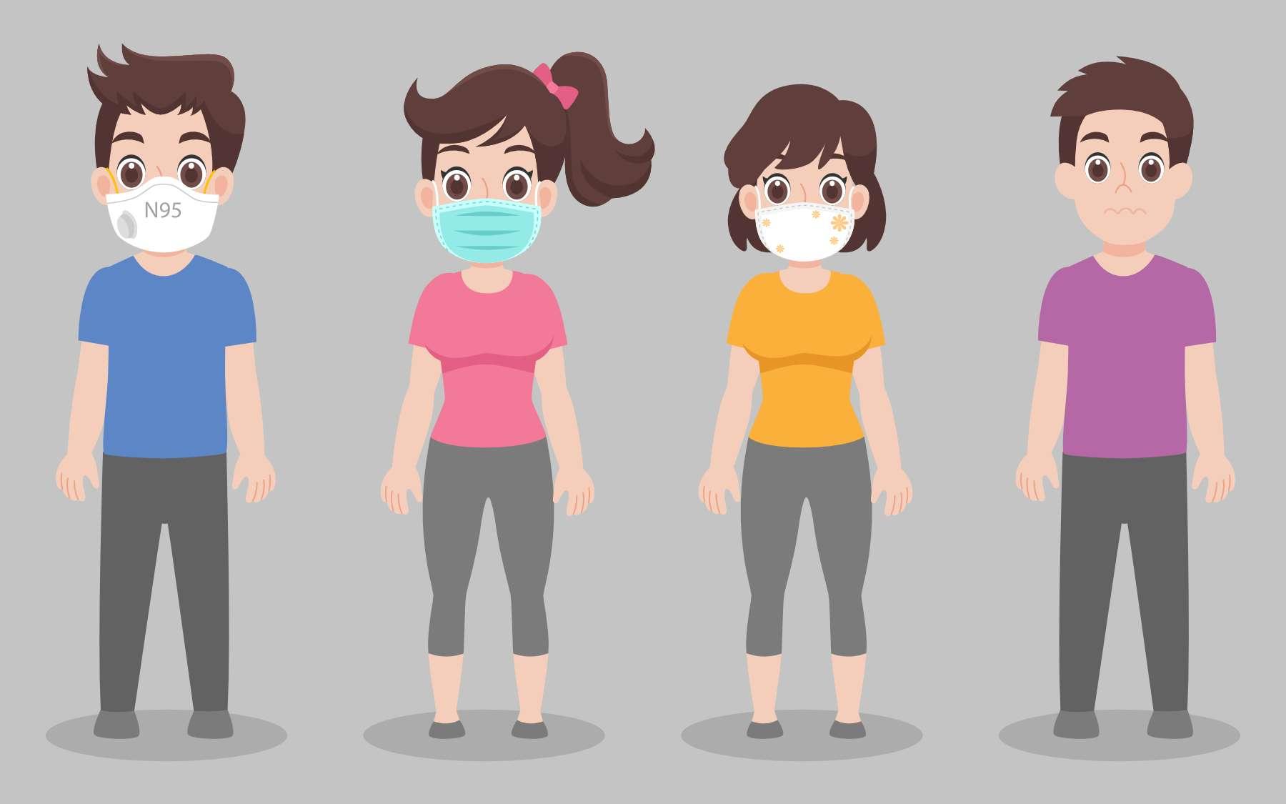 Masques : suivez-vous à la lettre les recommandations de l'OMS ? © Poi Natthaya, Adobe Stock