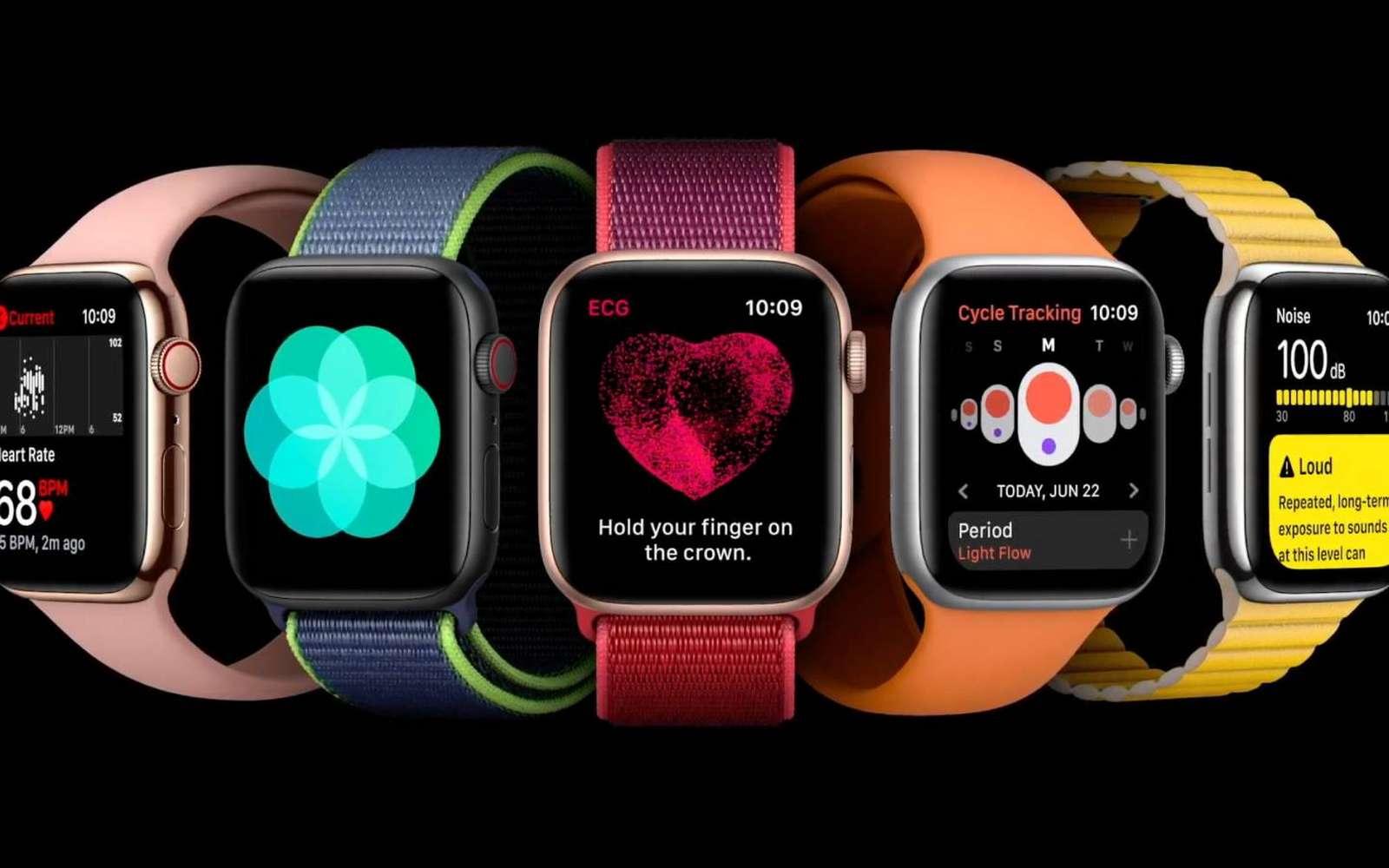watchOS 7 sera installé par défaut que l'Apple Watch 6. © Apple