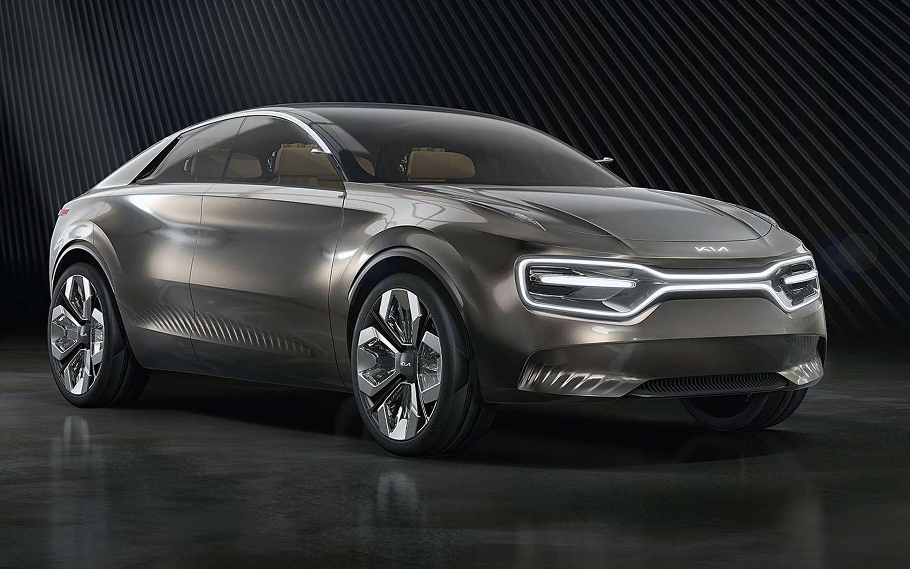 Le concept-car Imagine dévoilé au salon auto de Genève en 2019 servira de base au futur crossover électrique de Kia. © Kia