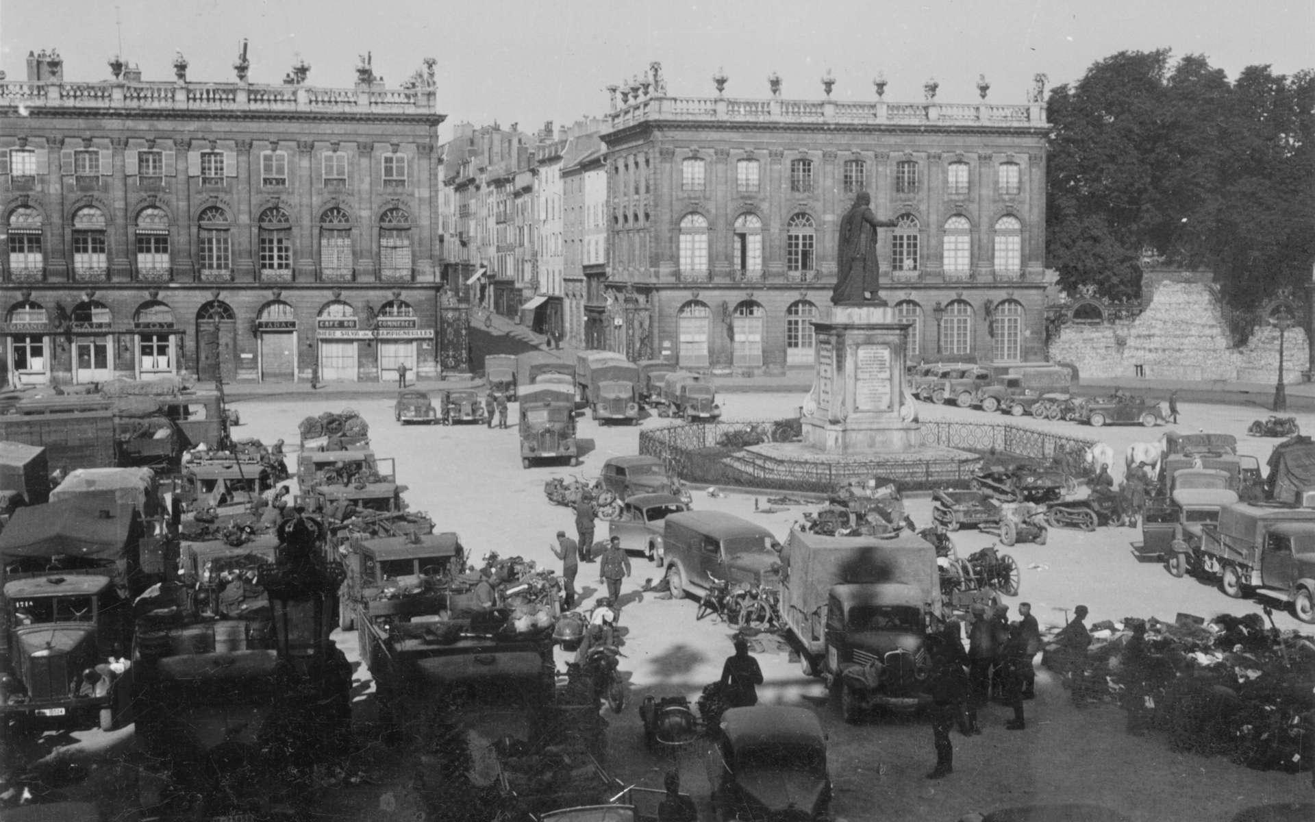 L'armée allemande, ici à Nancy, a occupé la France durant la seconde guerre mondiale, ce qui a entraîné de nombreuses privations. © Willi Ude, Wikimedia Commons, CC by-sa 3.0