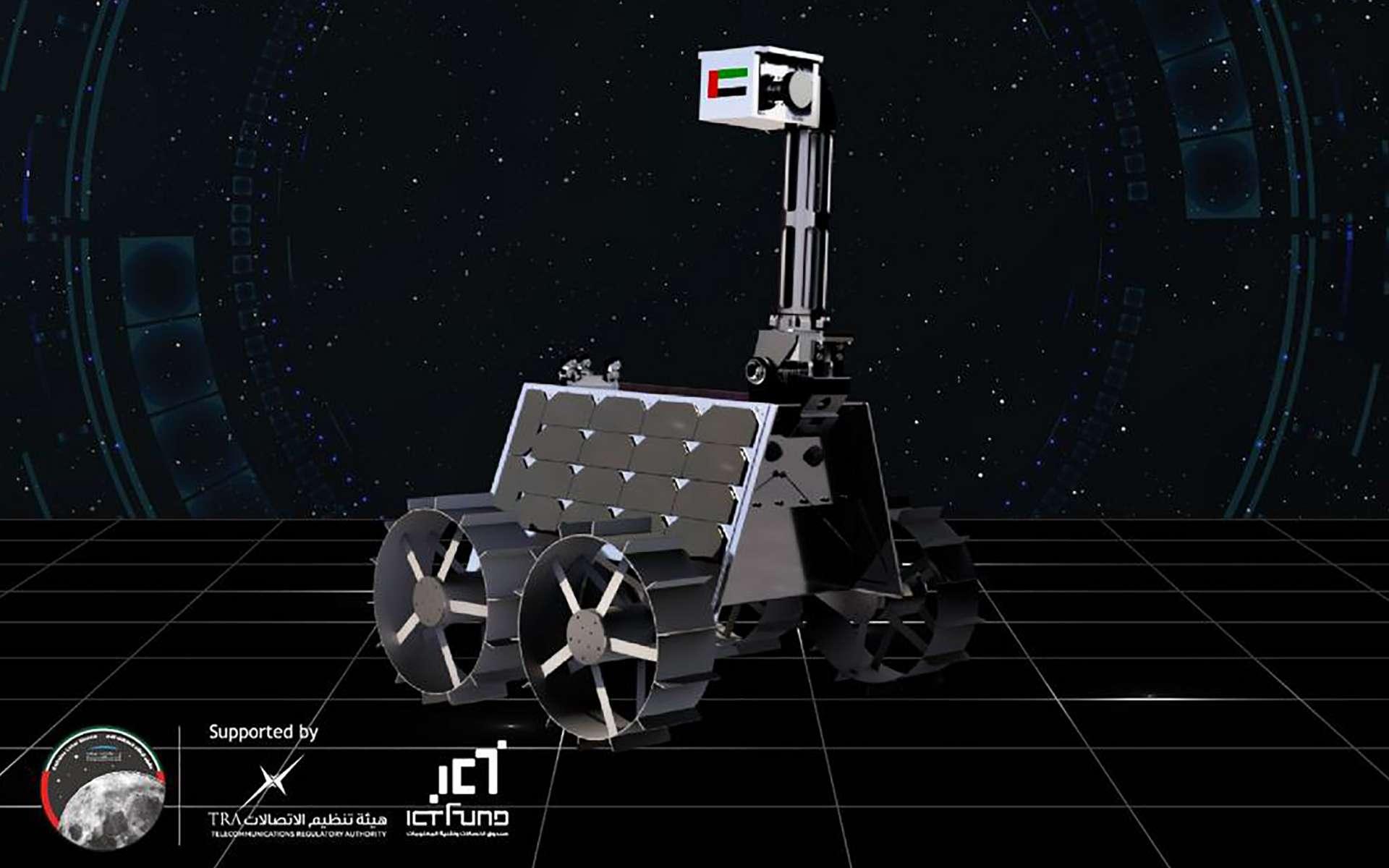 Étude conceptuelle du rover Rachid que les Émirats arabes anis souhaitent envoyer sur la Lune en 2024. © Dubai Media Office