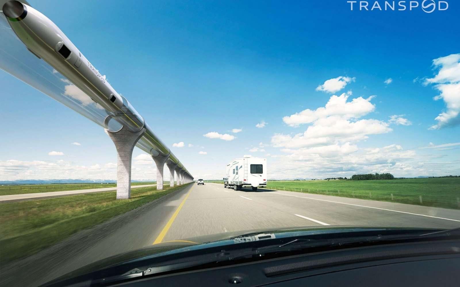 Les différents projets Hyperloop existants n'ont pas, pour le moment, évoqué les défis techniques soulevés par François Lacôte. © Transpod