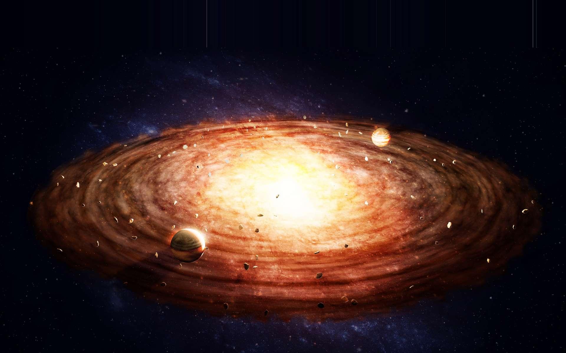 Selon des chercheurs de l'université de Rochester (États-Unis), des migrations de Jupiter auraient joué un rôle dans le fait que la Terre devienne habitable. Un scénario qui pourrait s'être joué dans d'autres systèmes planétaires. © Mopic, Adobe Stock