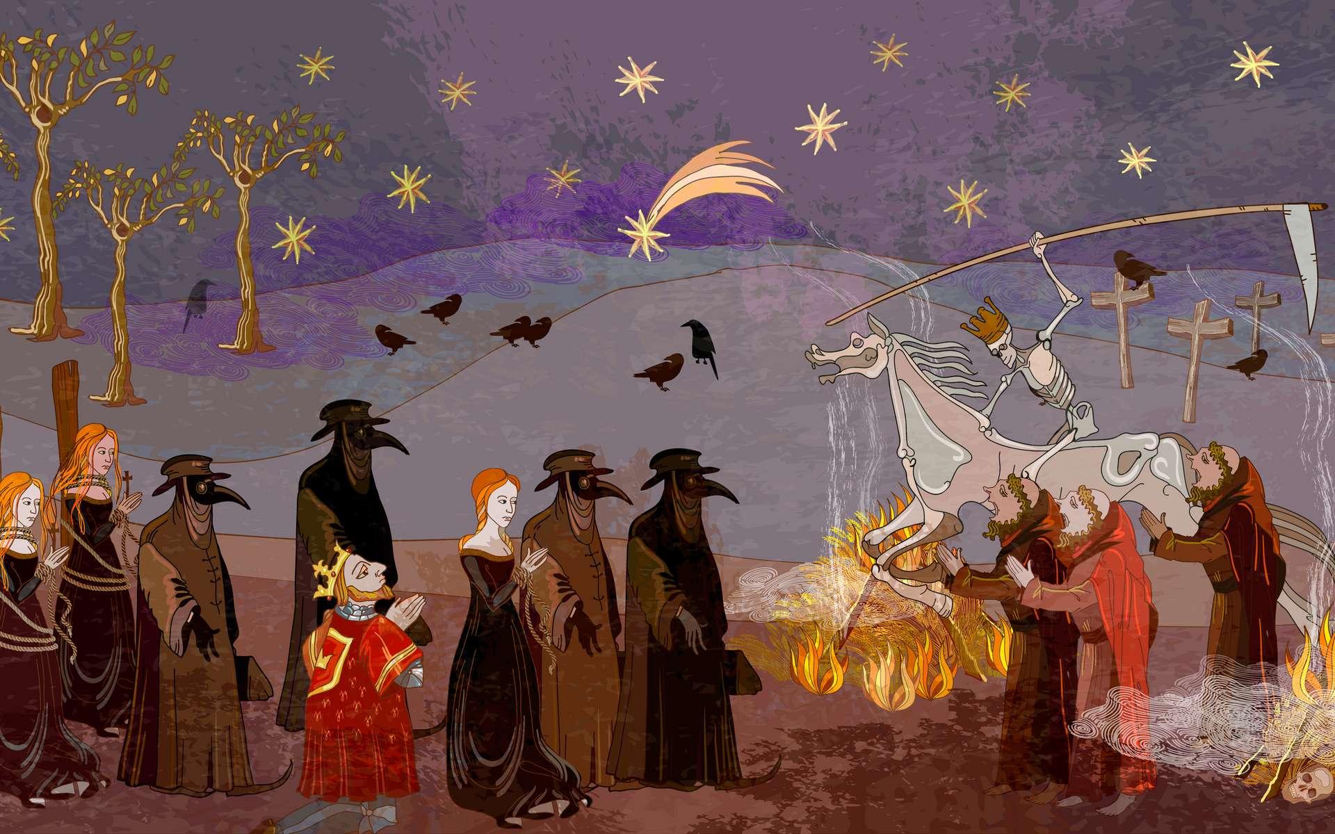 L'épidémie de peste noire a fait des ravages dans l'Europe médiévale. © Marioshka, Adobe Stock