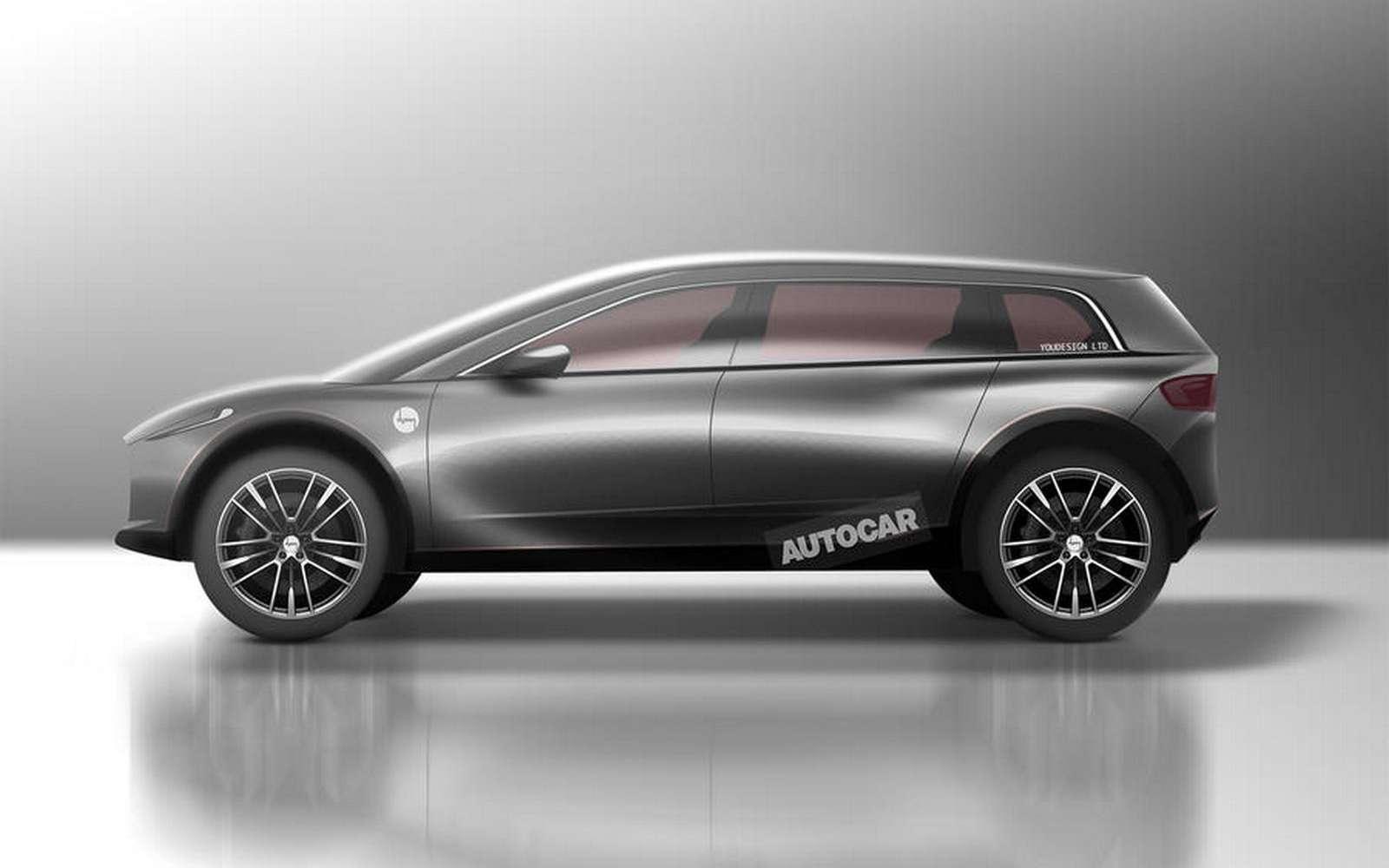 rtCette image était un rendu basé sur les croquis des brevets et réalisé par Autocar. © Autocar