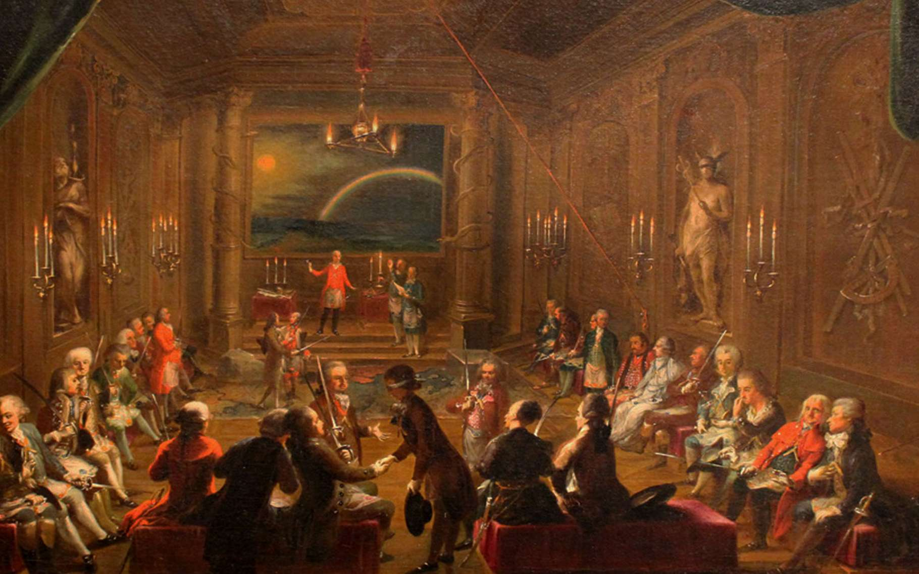 La Flûte enchantée de Mozart, initiation à la franc-maçonnerie. © Musée de Vienne, Wikimedia commons, DP