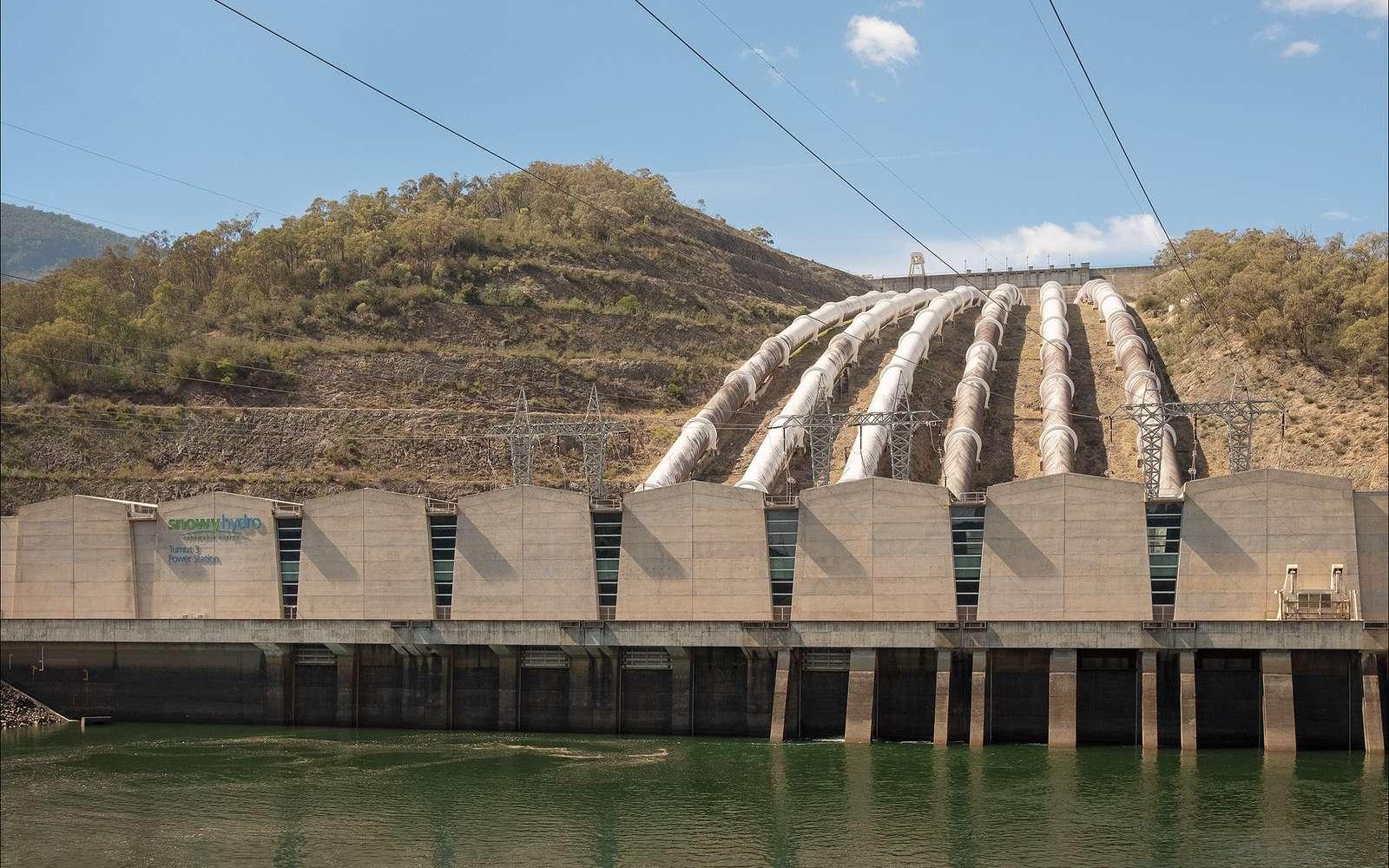 Une station de transfert d'énergie par pompage (Step) exploite la différence d'altitude entre deux réservoirs d'eau pour stocker l'électricité. © Peter Williams, Flickr