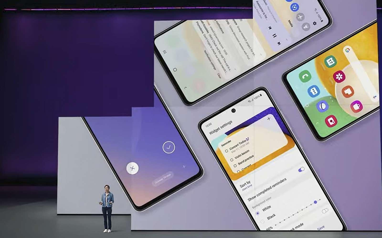 Samsung dévoilait aujourd'hui sa nouvelle gamme Galaxy A avec ses A52 et A57. © Samsung